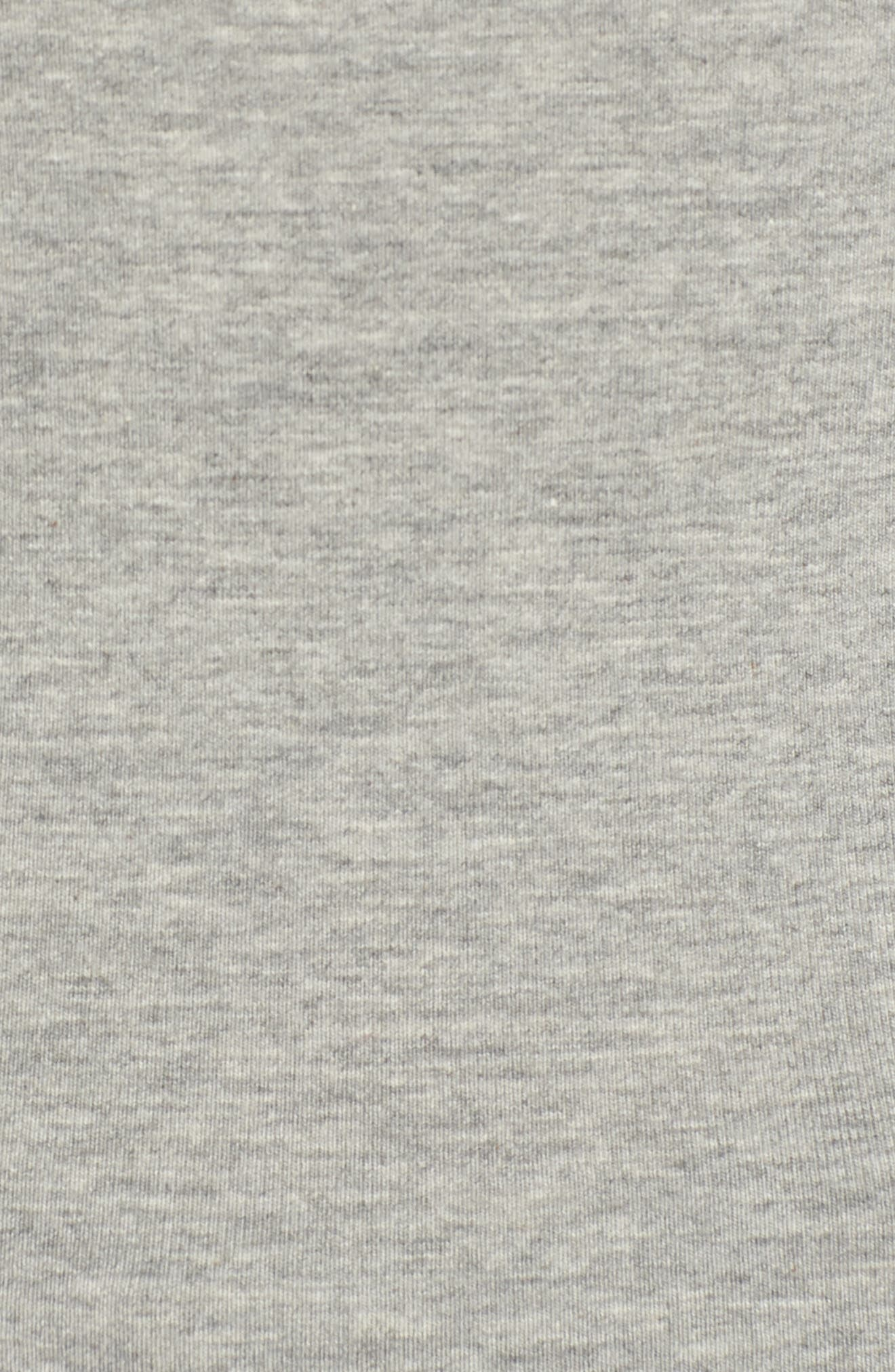 No Tuck Double Scoop Crop Camisole,                             Alternate thumbnail 6, color,                             GREY MEDIUM HEATHER