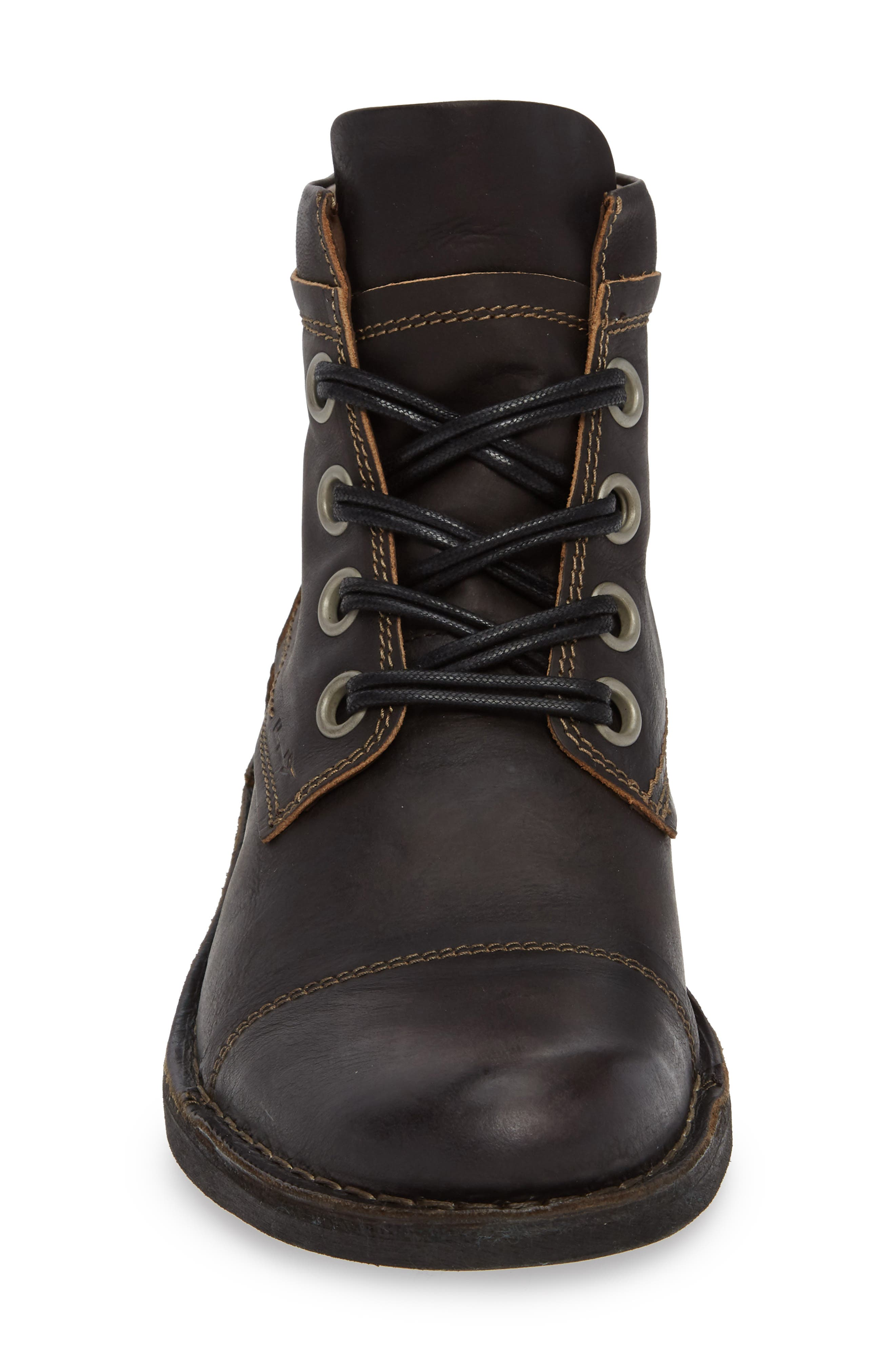 Rize Cap Toe Boot,                             Alternate thumbnail 4, color,                             BLACK SEBTA