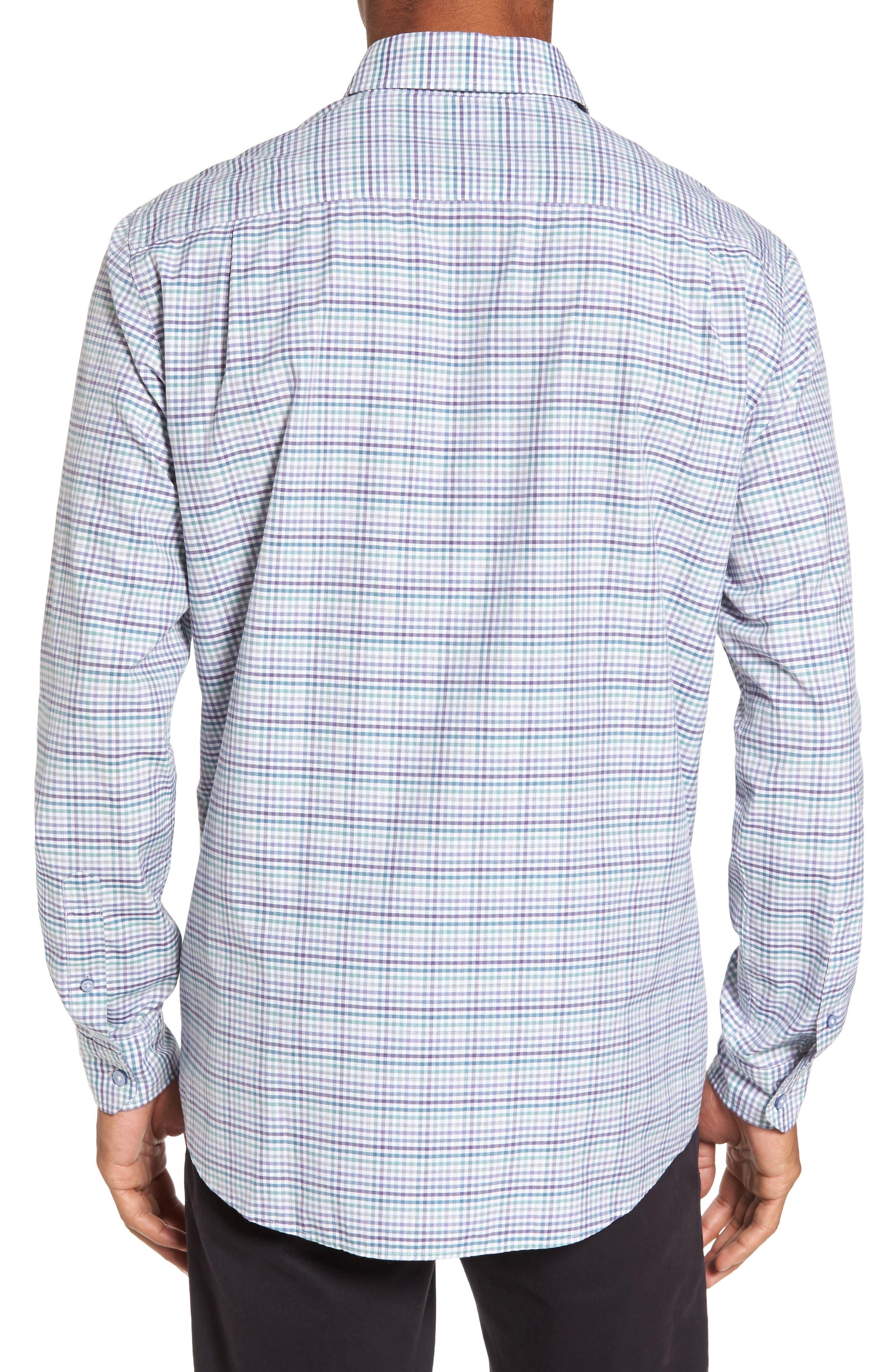 Woodlaw Original Fit Check Sport Shirt,                             Alternate thumbnail 4, color,