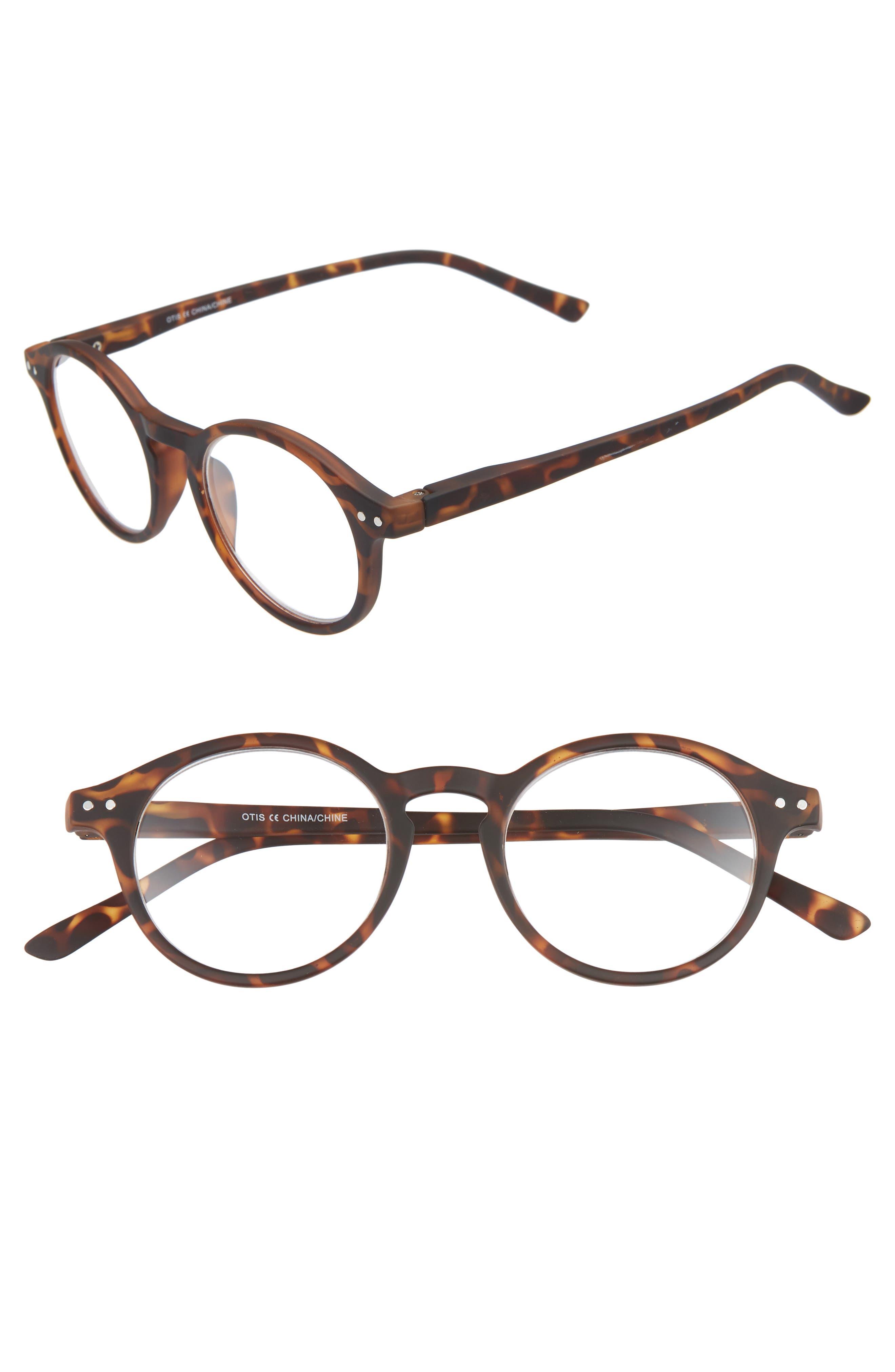 Otis 48mm Reading Glasses,                         Main,                         color, BROWN TORTOISE