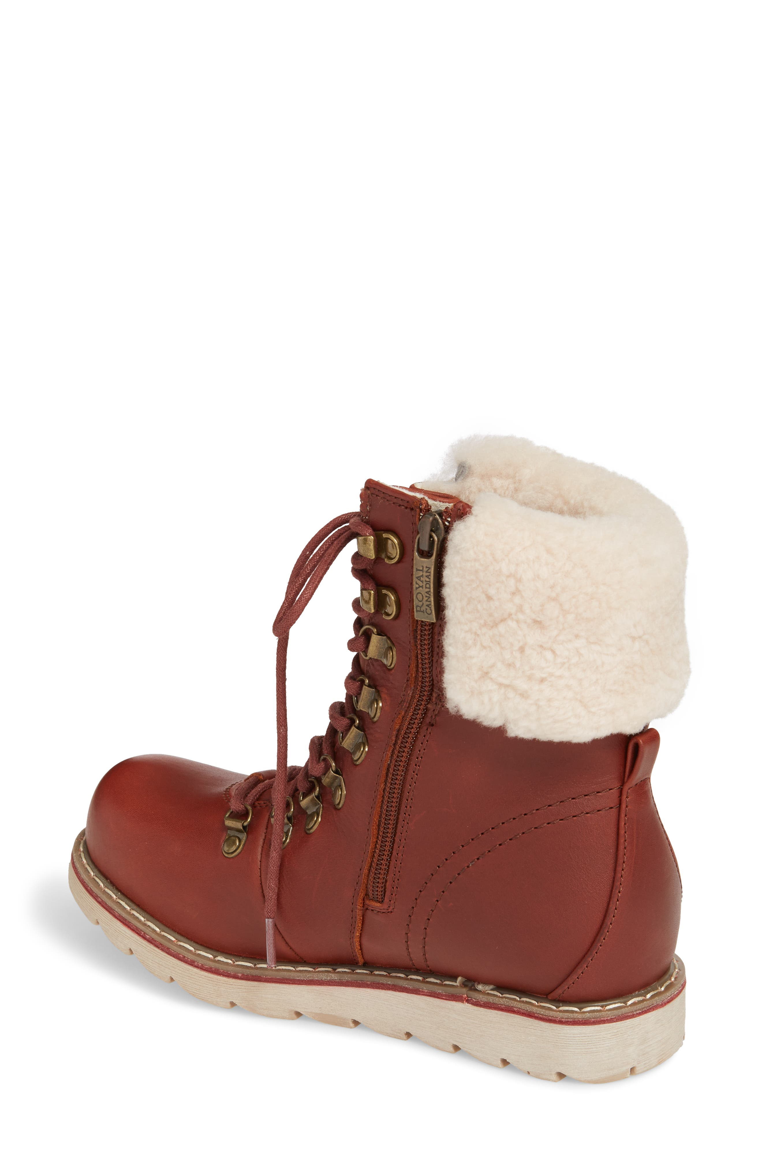 Lethbridge Waterproof Snow Boot with Genuine Shearling Cuff,                             Alternate thumbnail 7, color,