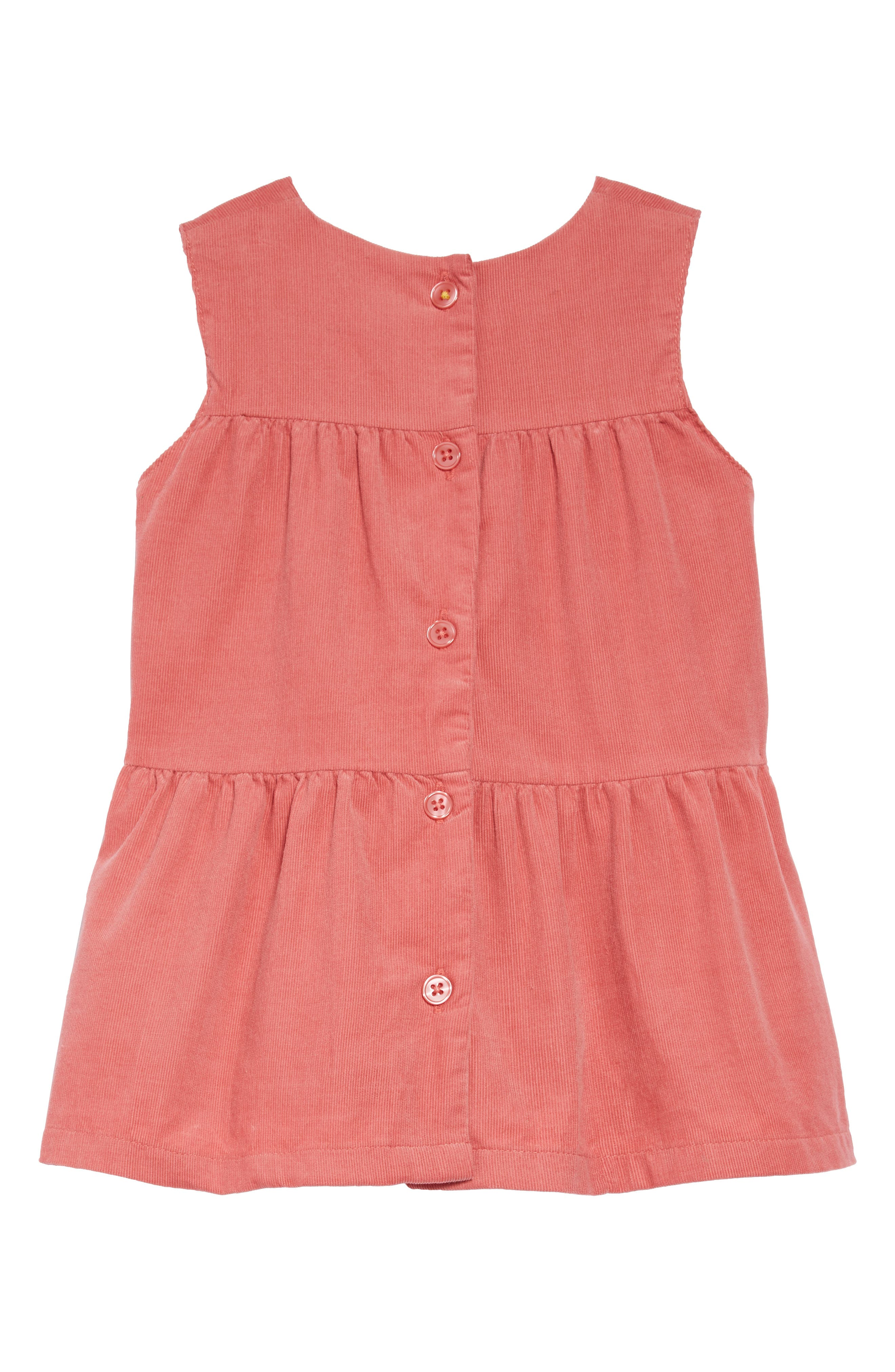 MINI BODEN,                             Tiered Corduroy Dress,                             Alternate thumbnail 2, color,                             664