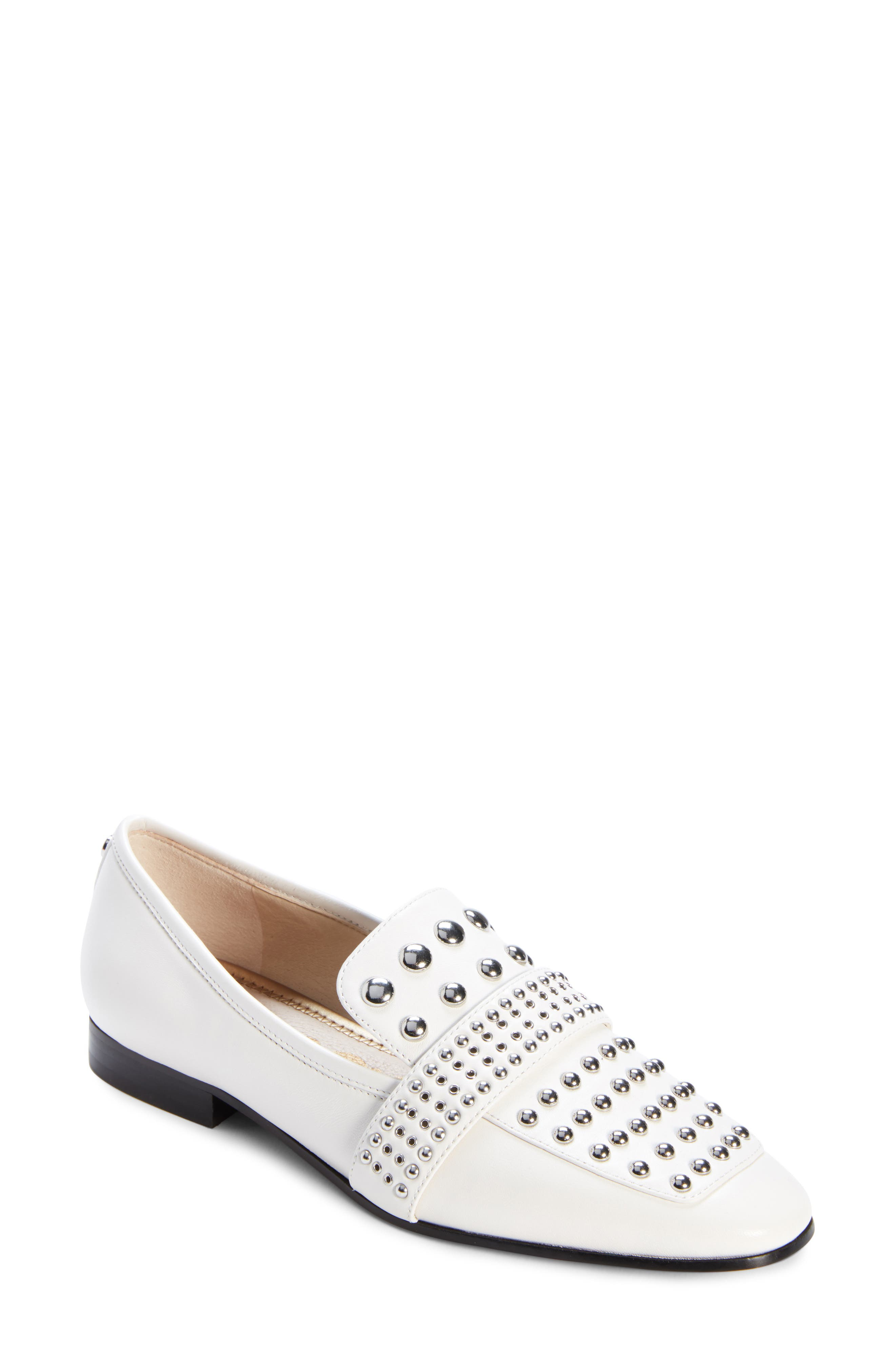 Chesney Loafer,                             Main thumbnail 1, color,                             BRIGHT WHITE LEATHER