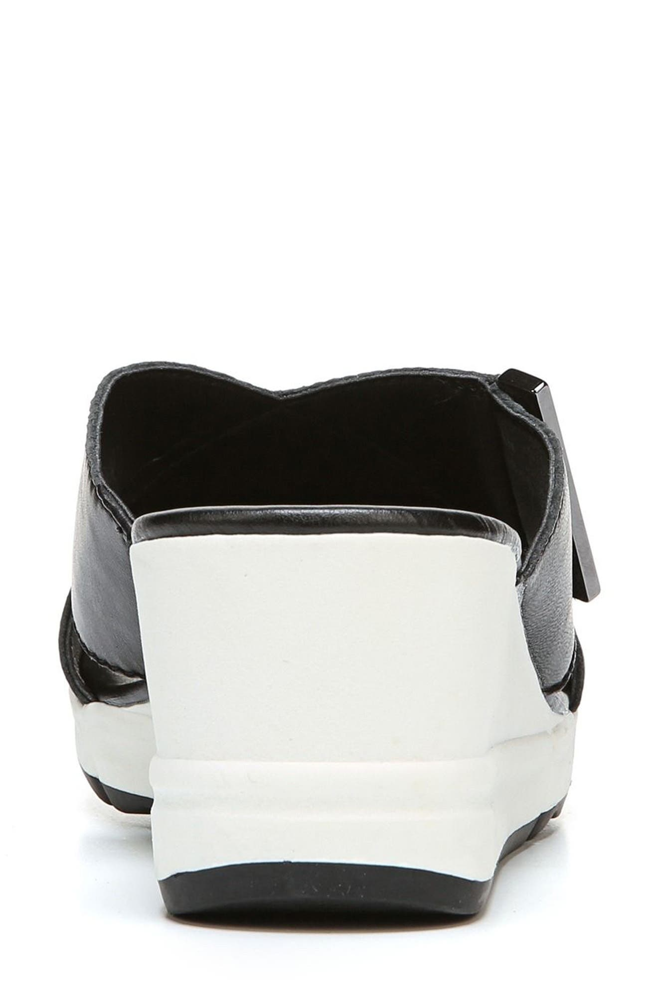Izzy Wedge Sandal,                             Alternate thumbnail 7, color,                             BLACK LEATHER