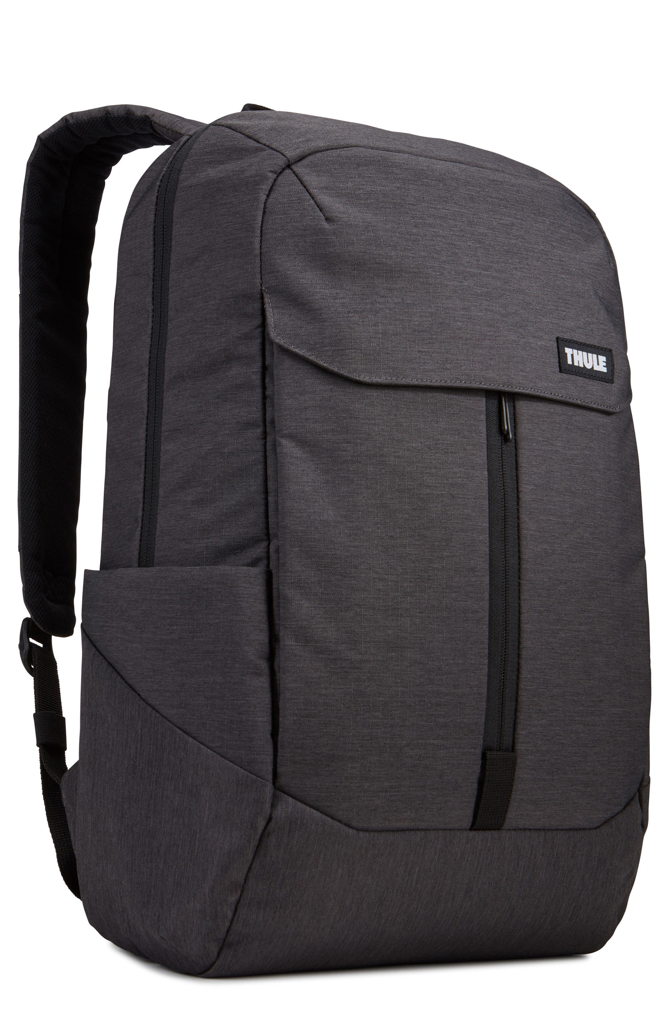 THULE,                             Lithos Backpack,                             Main thumbnail 1, color,                             BLACK