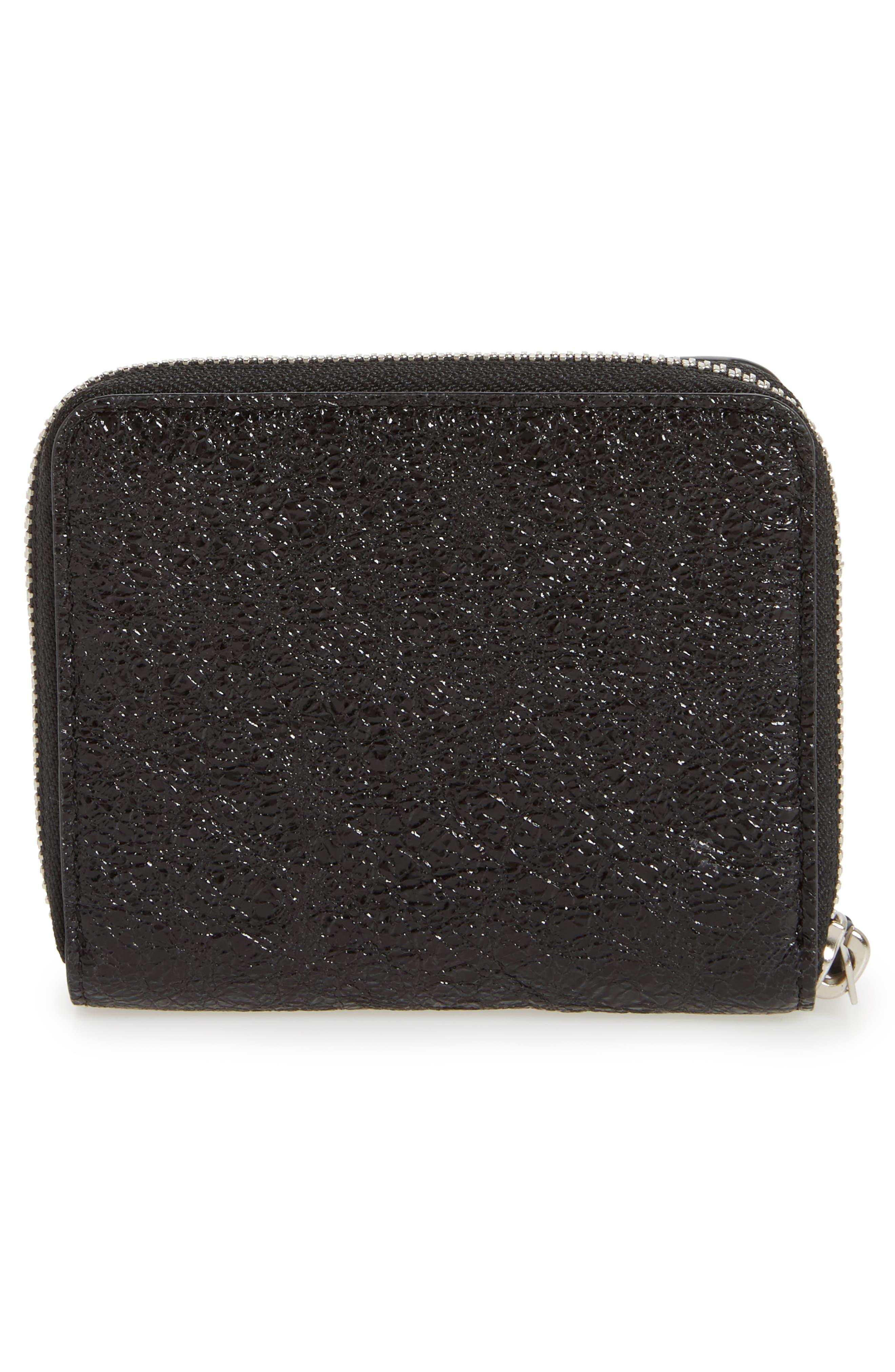 Mast Shine Leather Wallet,                             Alternate thumbnail 4, color,                             001