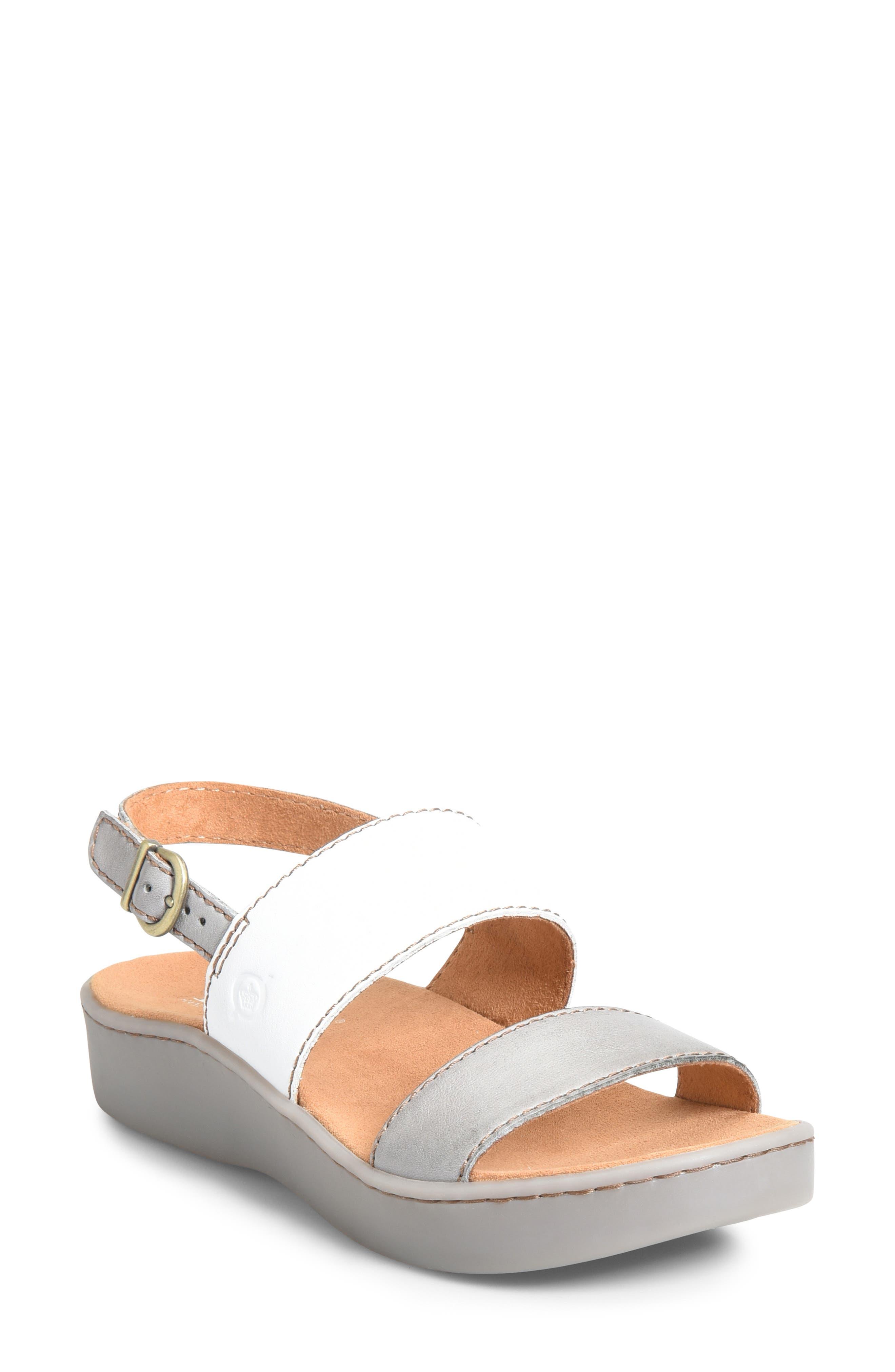 B?rn Oconee Platform Sandal, Grey