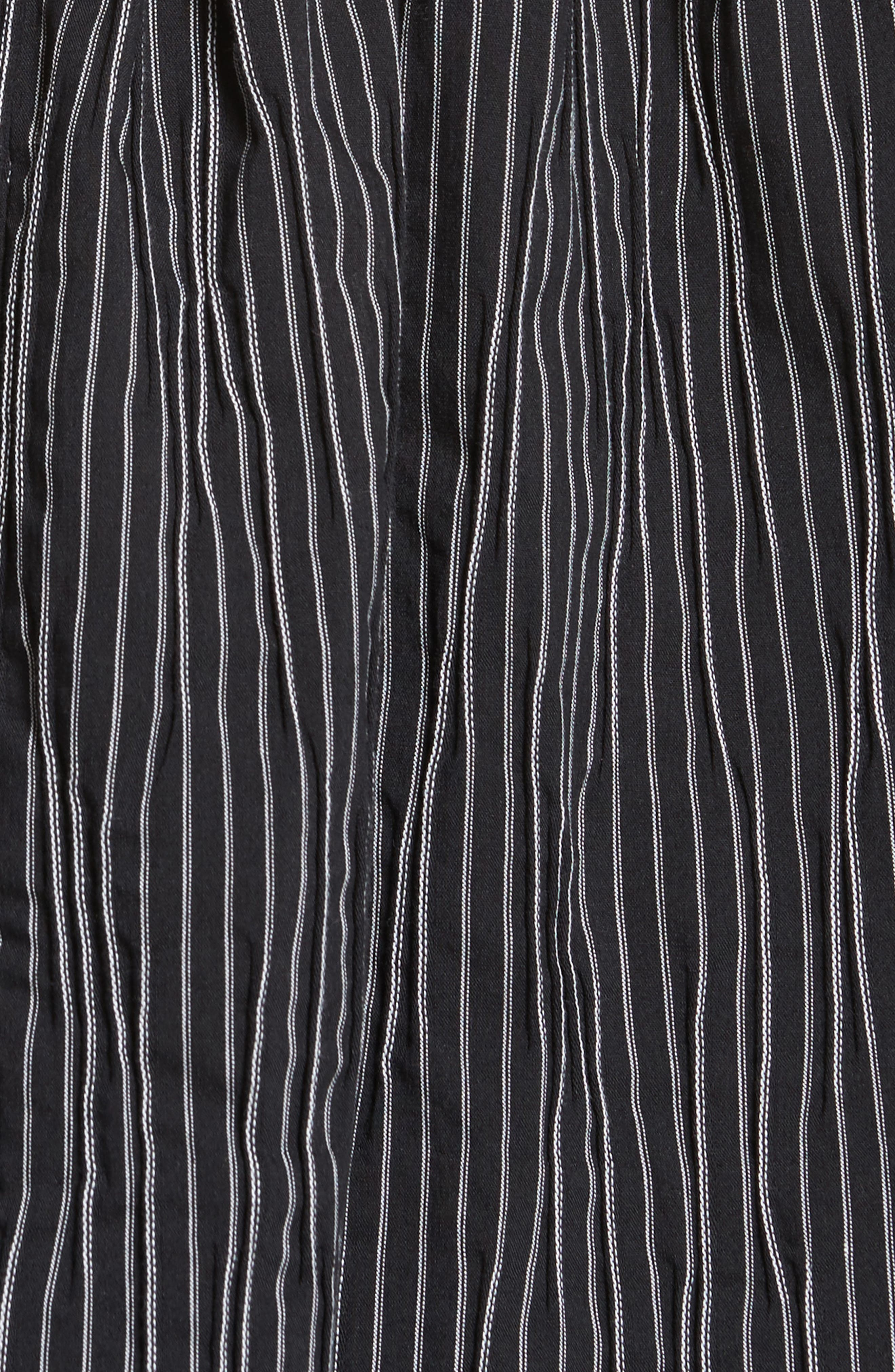 Stripe Crinkle Cotton Blend Swing Top,                             Alternate thumbnail 5, color,