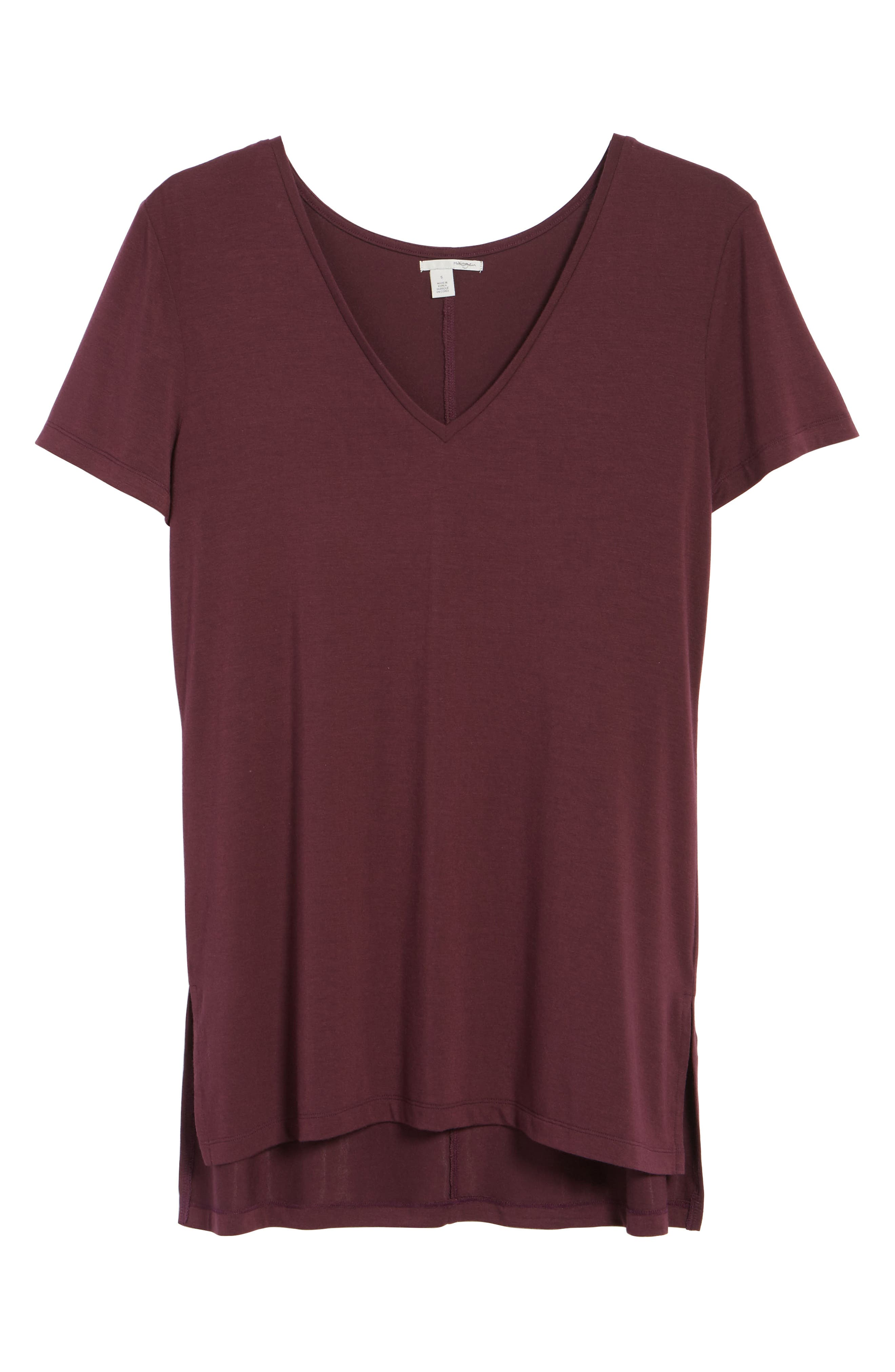 V-Neck Tunic Tee,                             Alternate thumbnail 72, color,