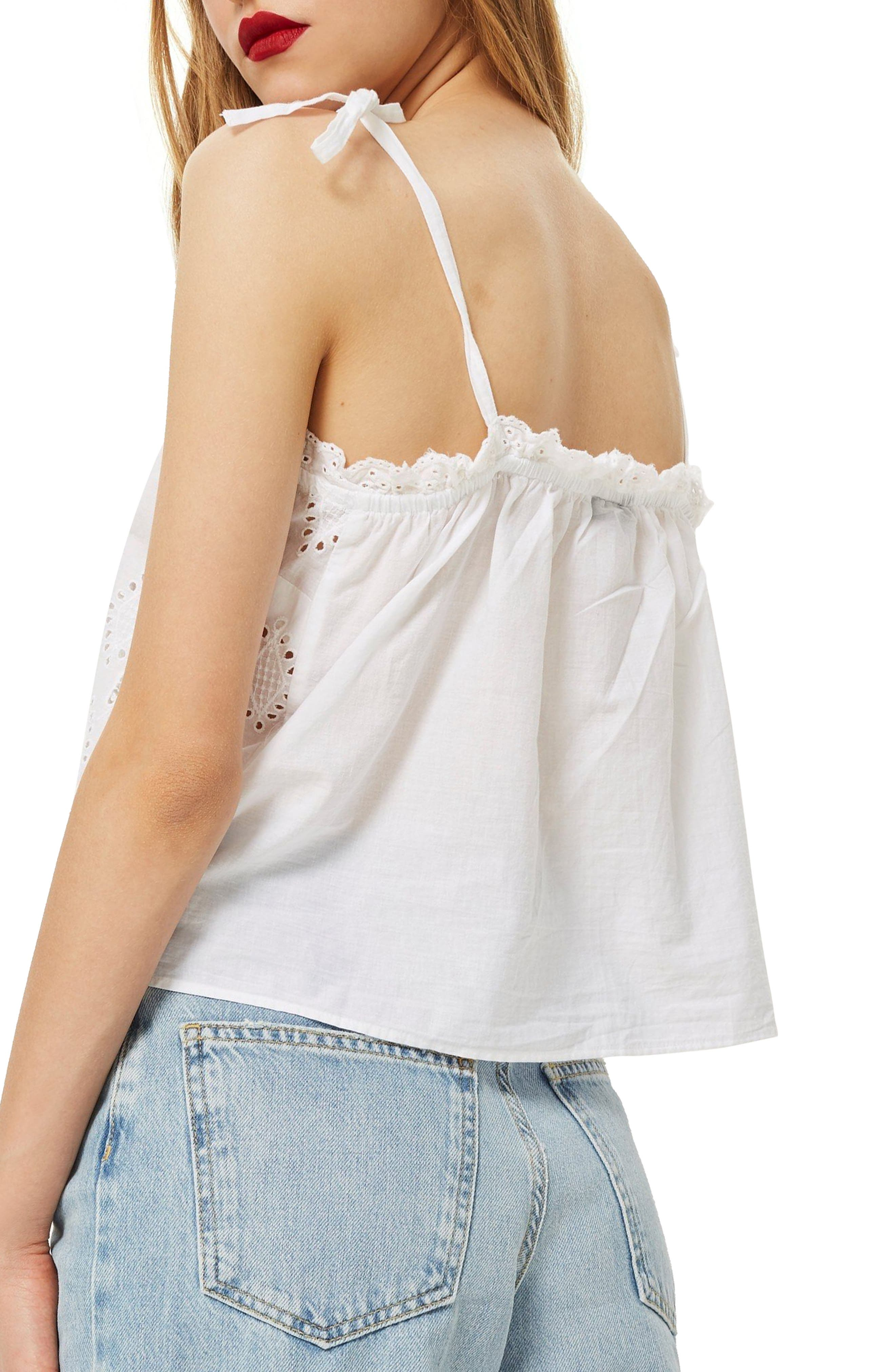 Broderie Camisole Top,                             Alternate thumbnail 5, color,