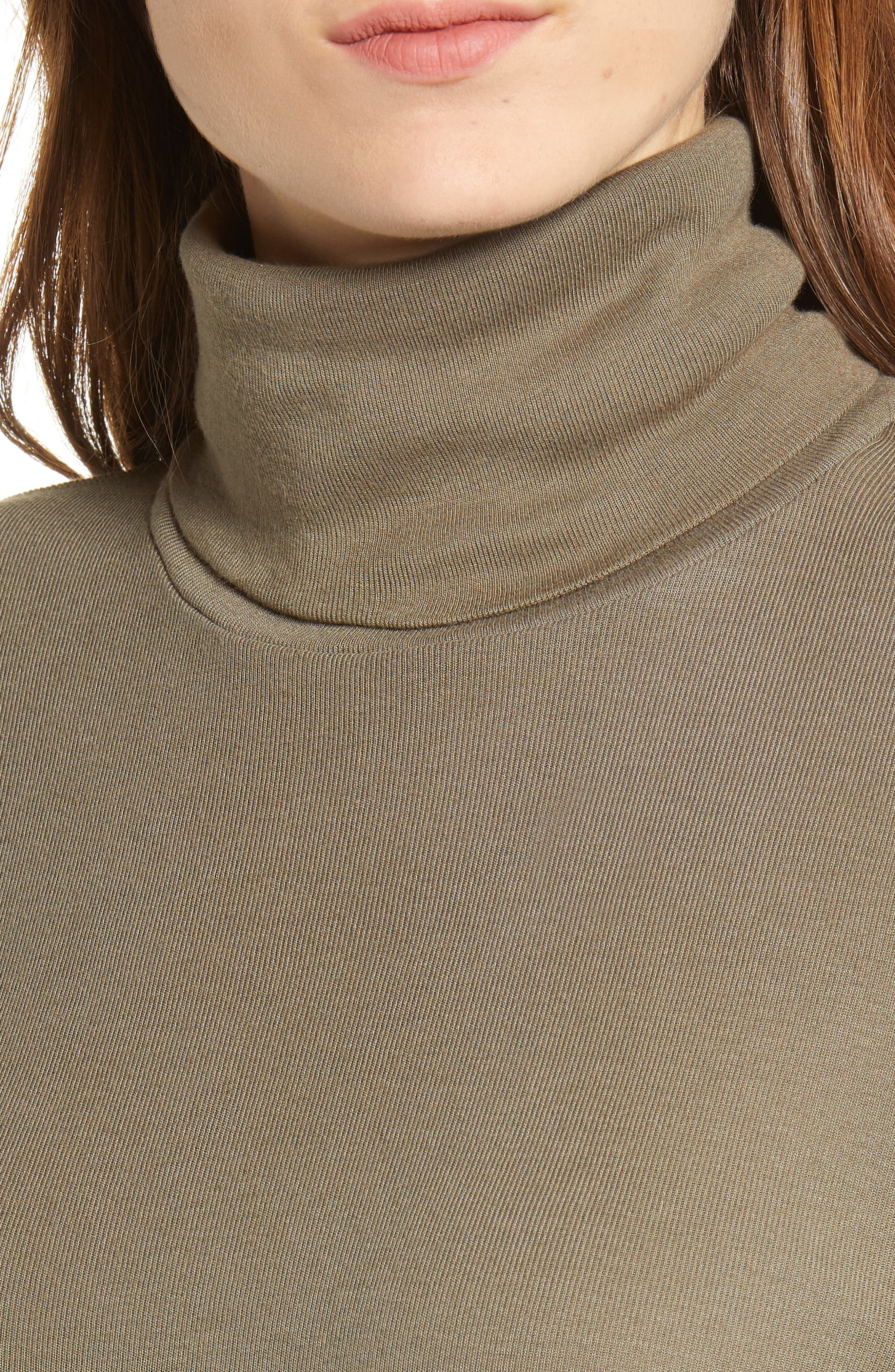 SPLENDID,                             Fitted Turtleneck,                             Alternate thumbnail 4, color,                             309