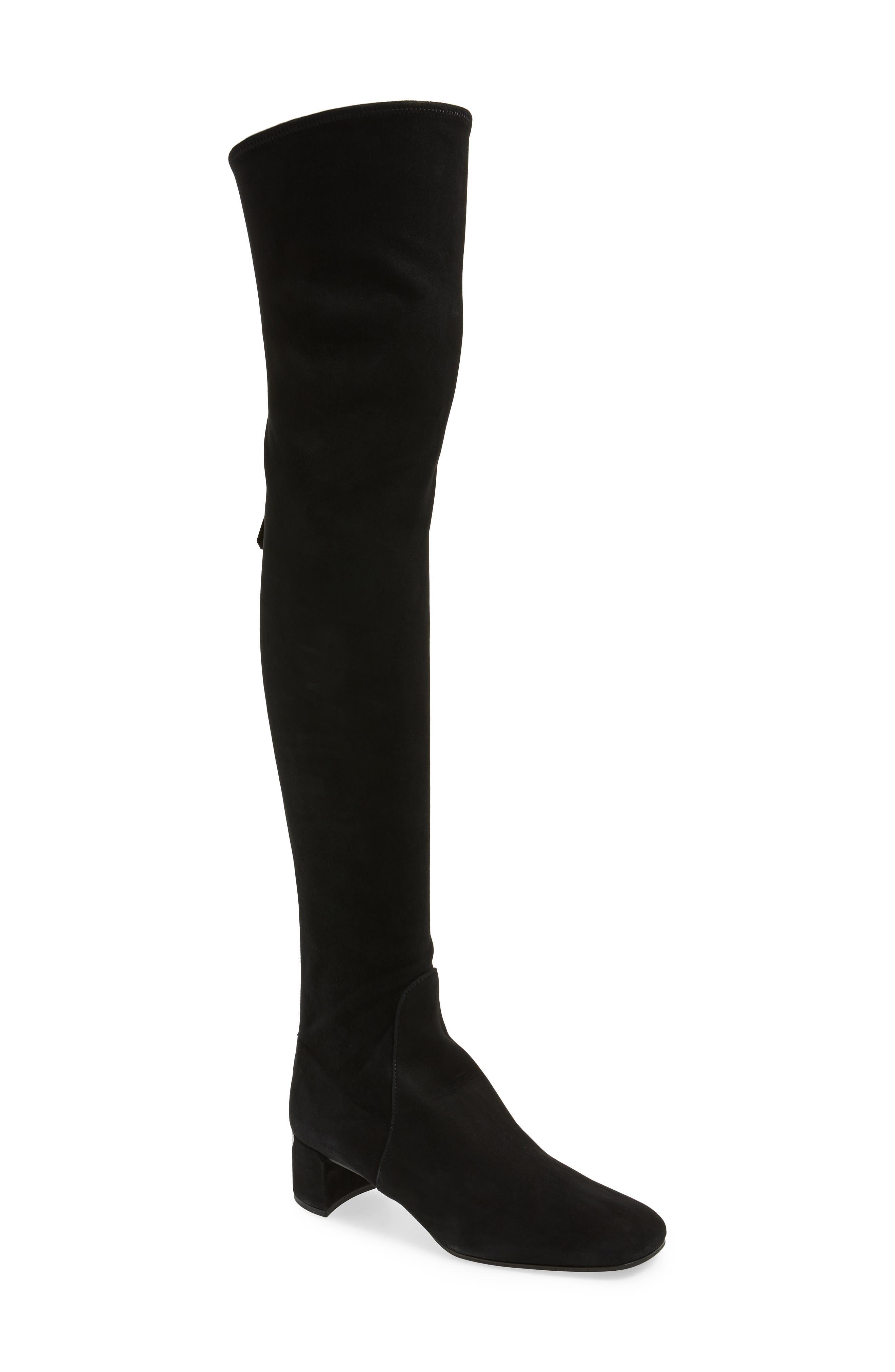 Block Heel Over the Knee Boot,                             Main thumbnail 1, color,                             BLACK