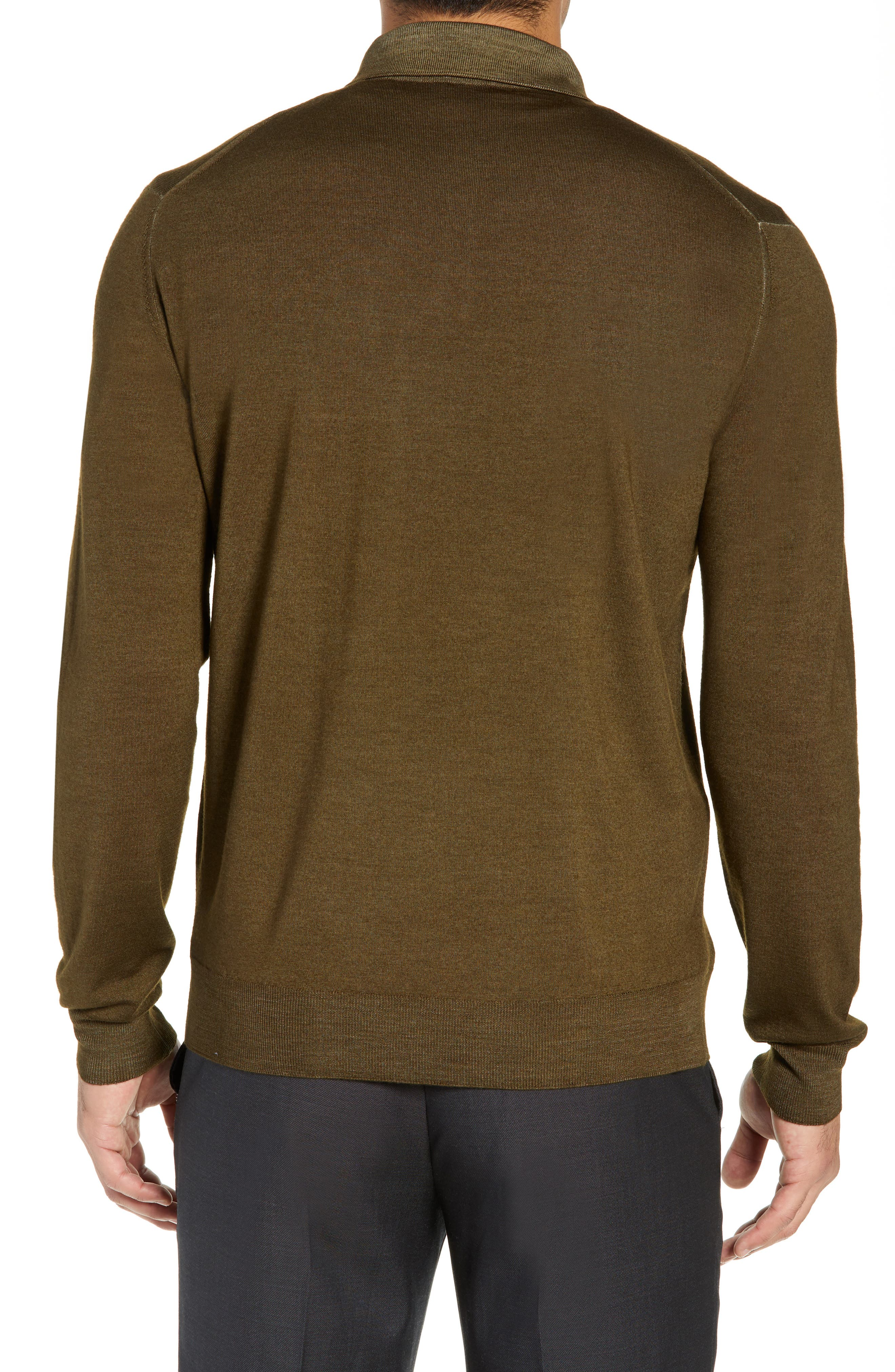 Dustin Wool Polo Sweater,                             Alternate thumbnail 2, color,                             GREEN