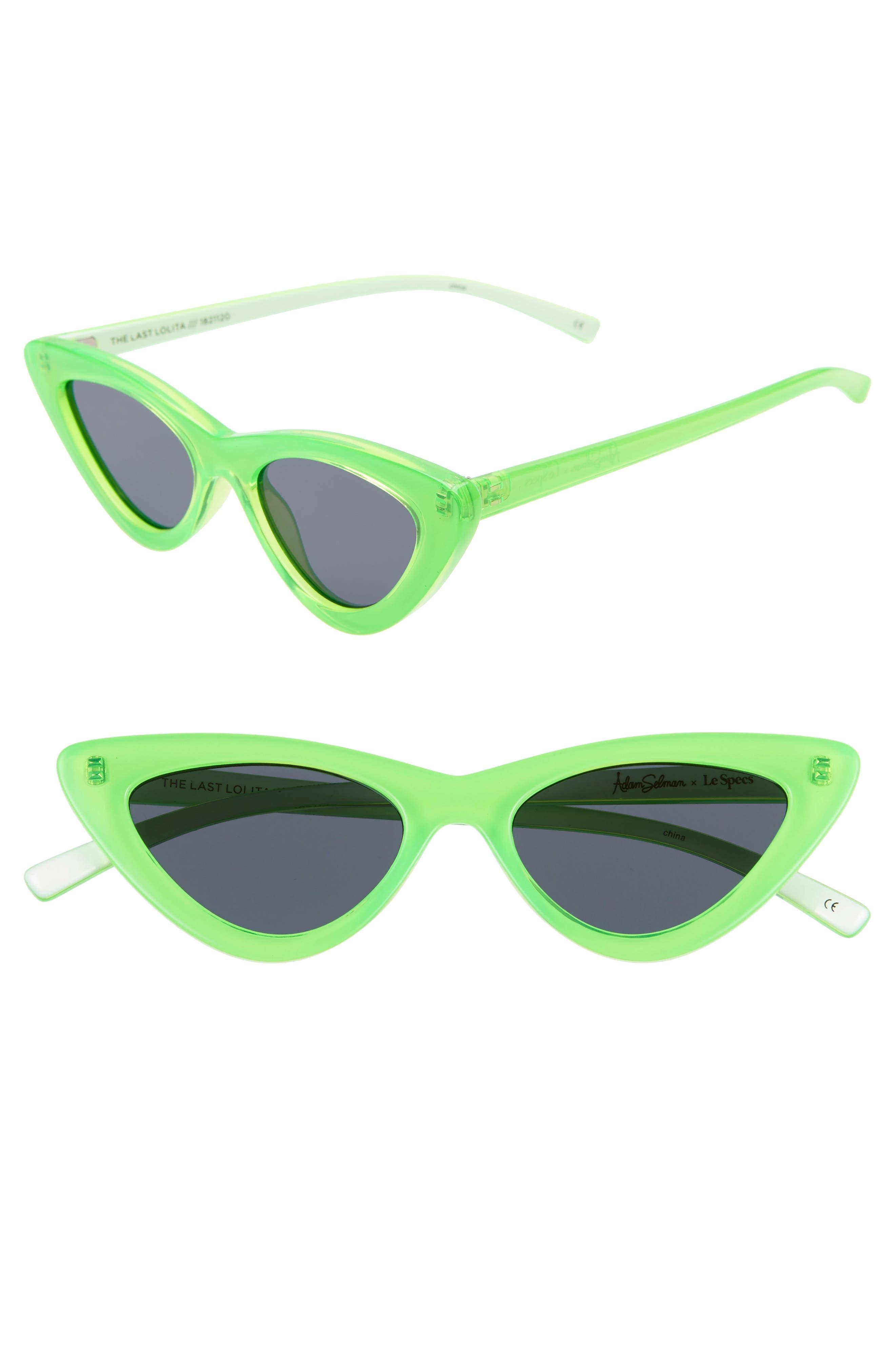 Adam Selman X Le Specs Luxe Lolita 4m Cat Eye Sunglasses - Neon Lime
