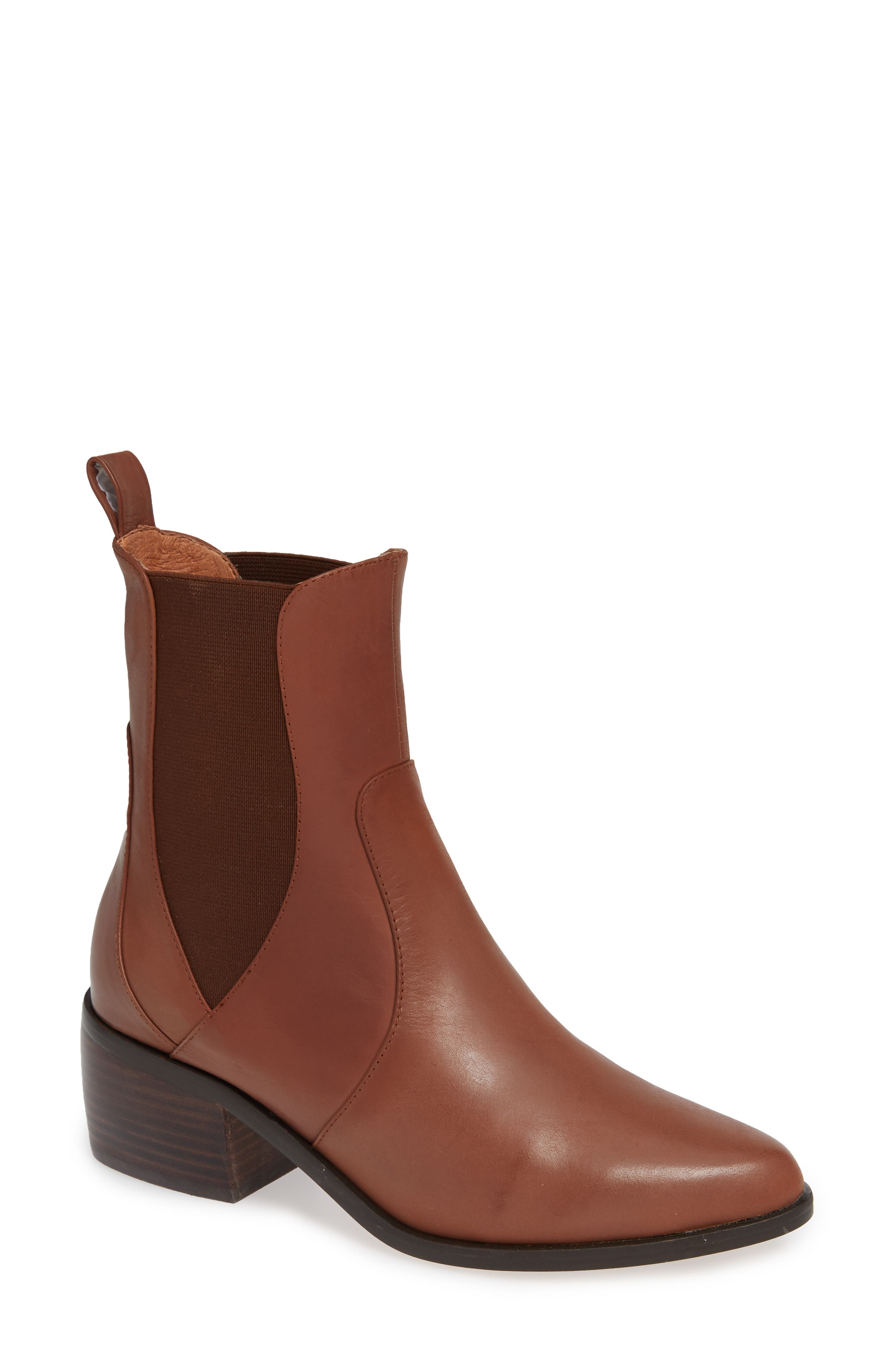 Genesis Bootie,                         Main,                         color, TAN LEATHER