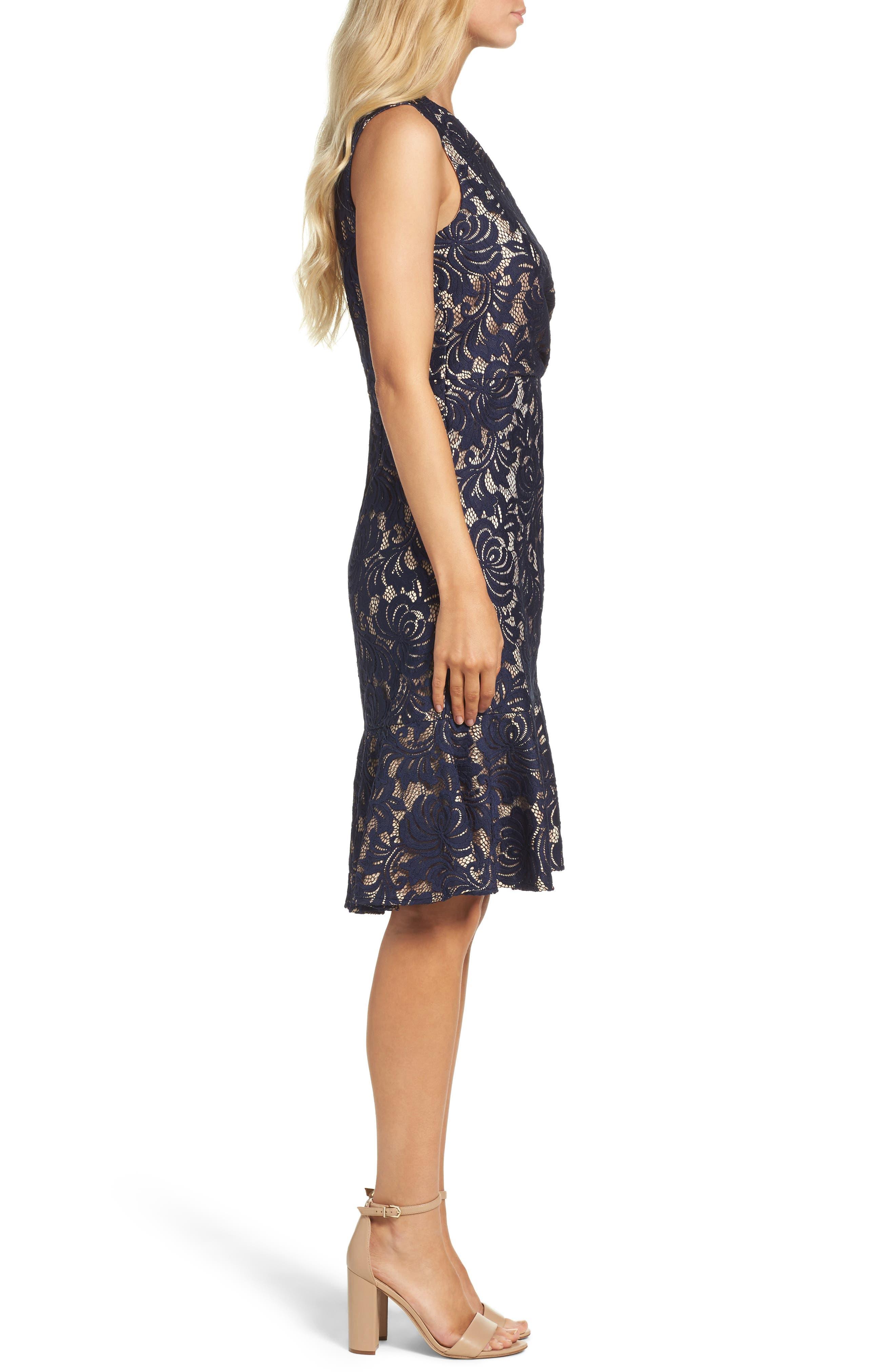 Lace Midi Dress,                             Alternate thumbnail 3, color,