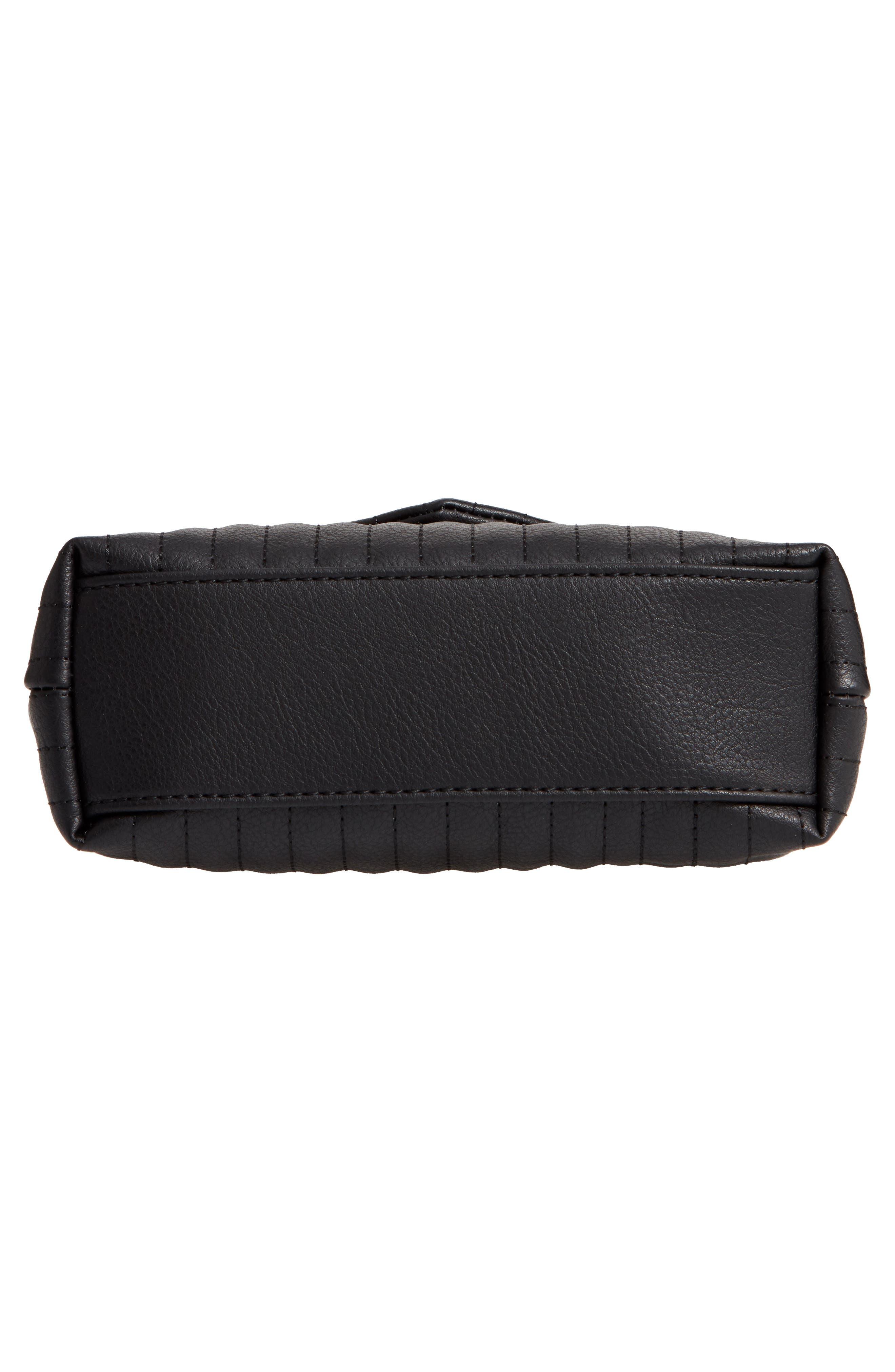 Urche Faux Leather Crossbody Bag,                             Alternate thumbnail 6, color,                             BLACK