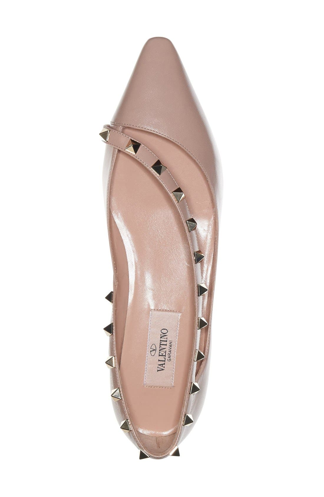 'Rockstud' Demi d'Orsay Flat,                             Alternate thumbnail 2, color,                             250