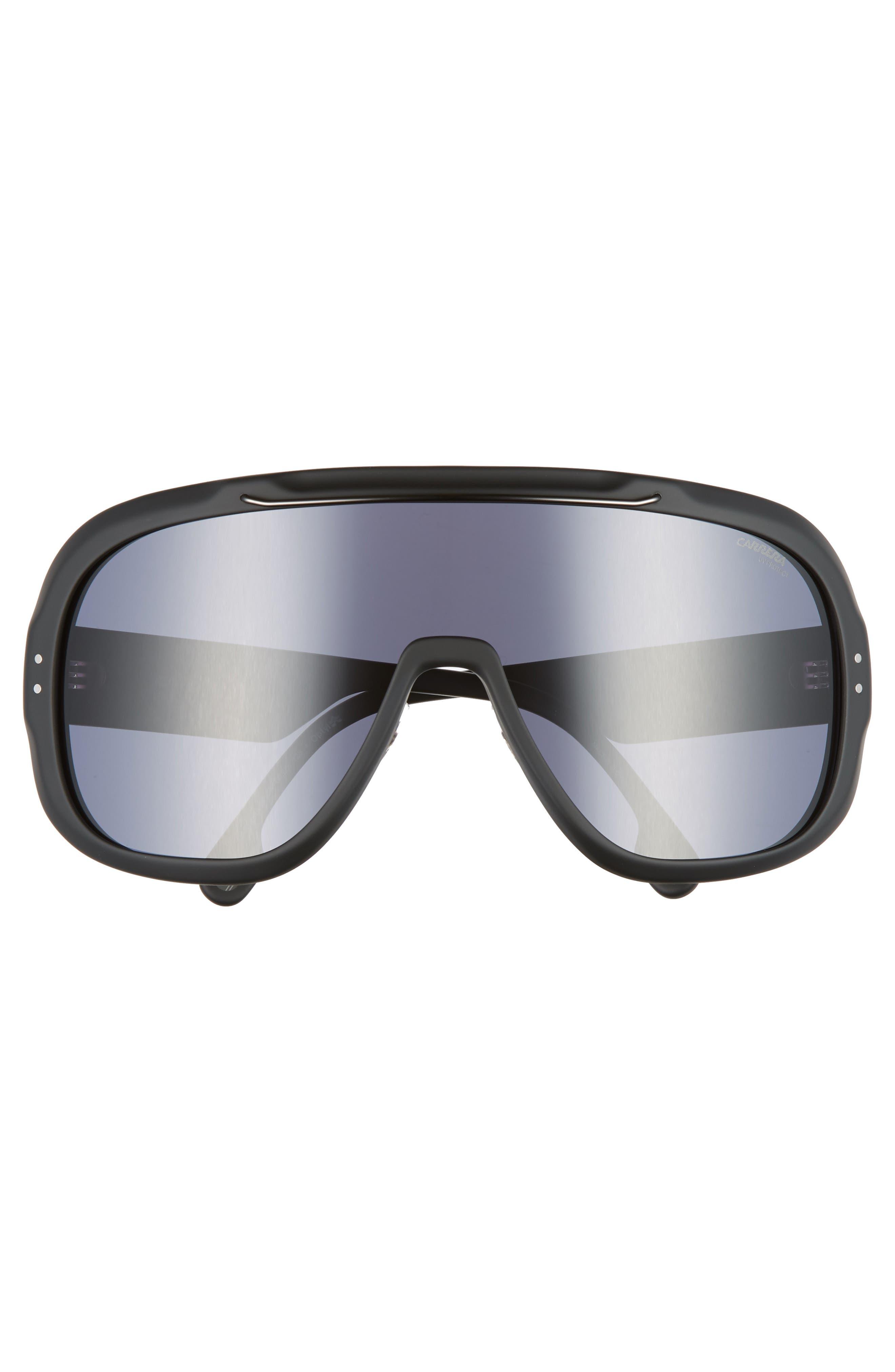 Epica 99mm Shield Sunglasses,                             Alternate thumbnail 2, color,                             MATTE BLACK