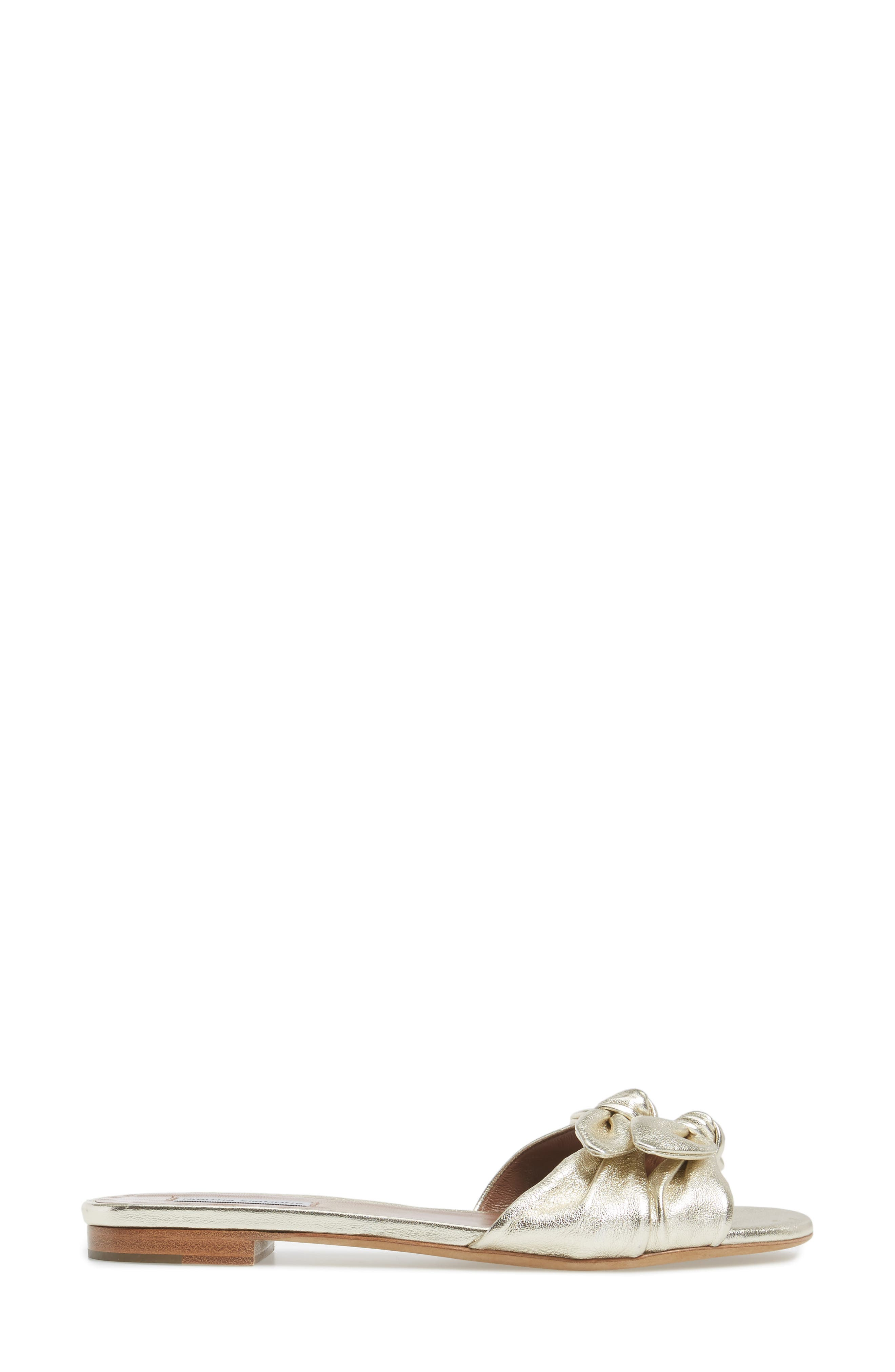 Cleo Knotted Bow Slide Sandal,                             Alternate thumbnail 3, color,                             040