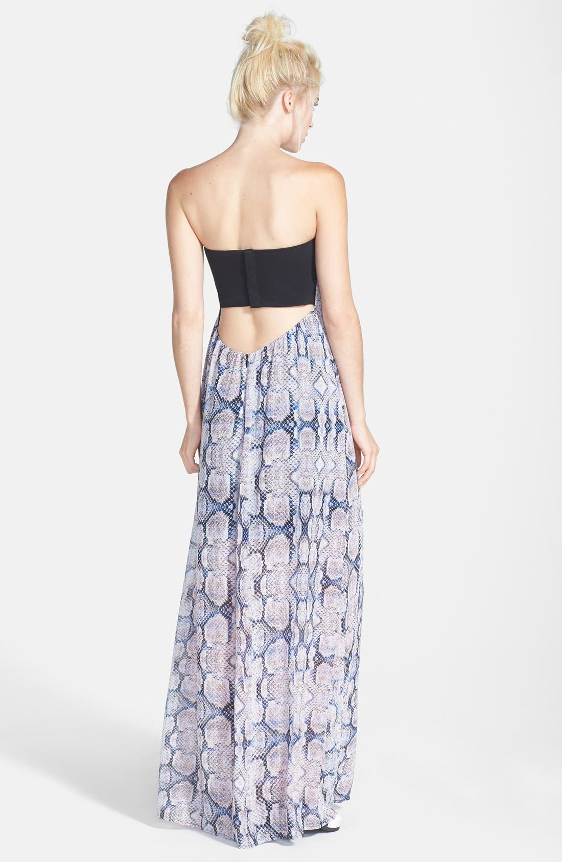 Like Mynded Strapless Maxi Dress