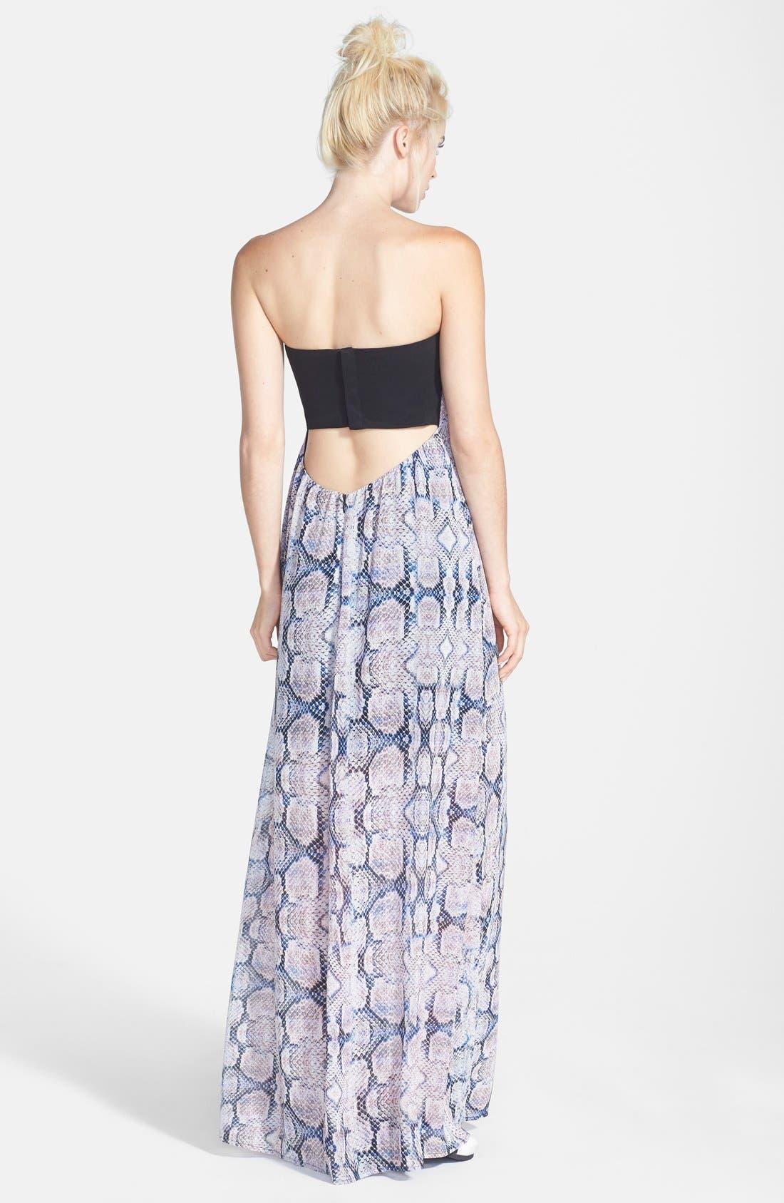Like Mynded Strapless Maxi Dress
