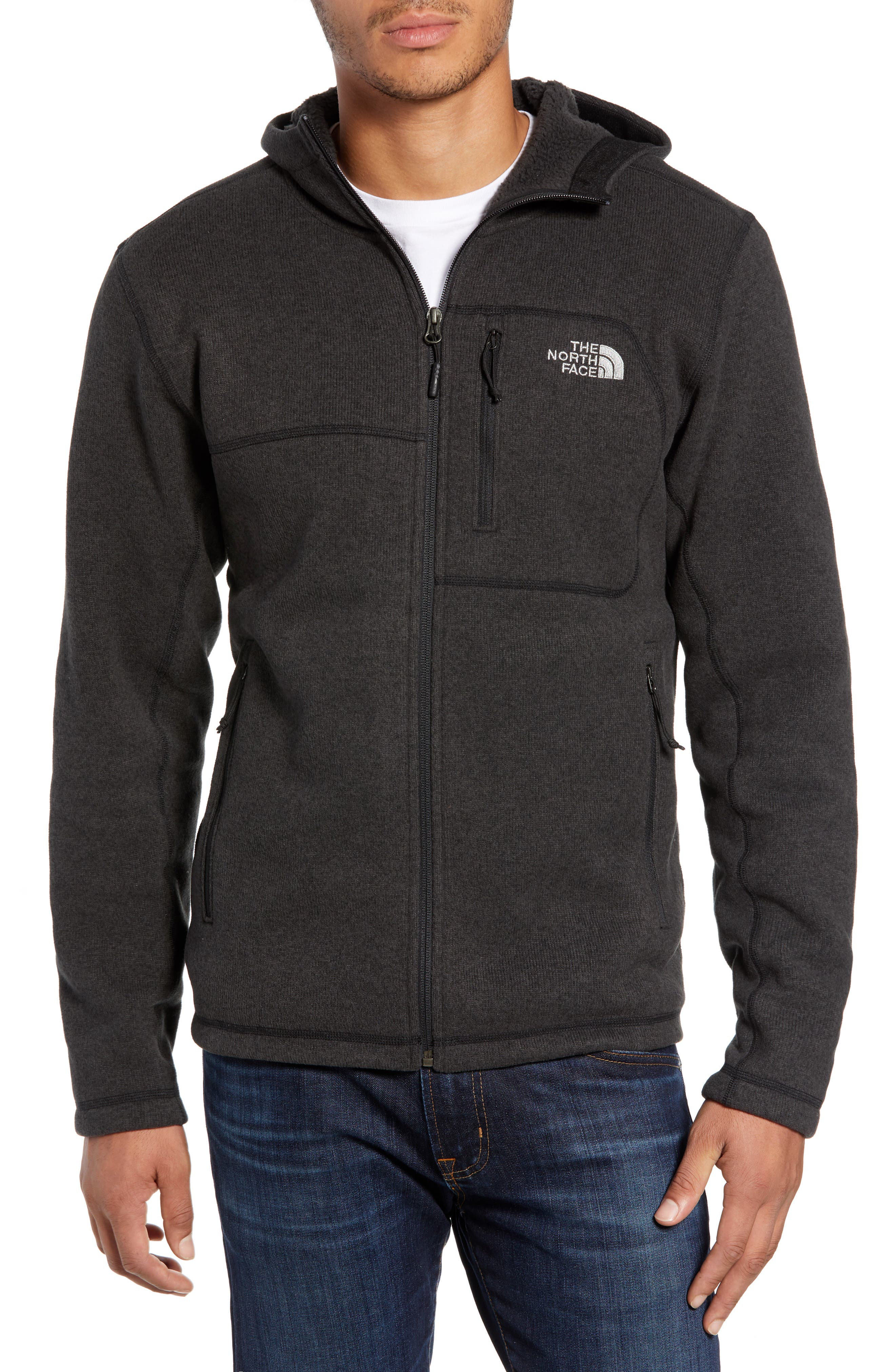 Gordon Lyons Relaxed Fit Sweater Fleece Hoodie,                         Main,                         color, TNF BLACK HEATHER