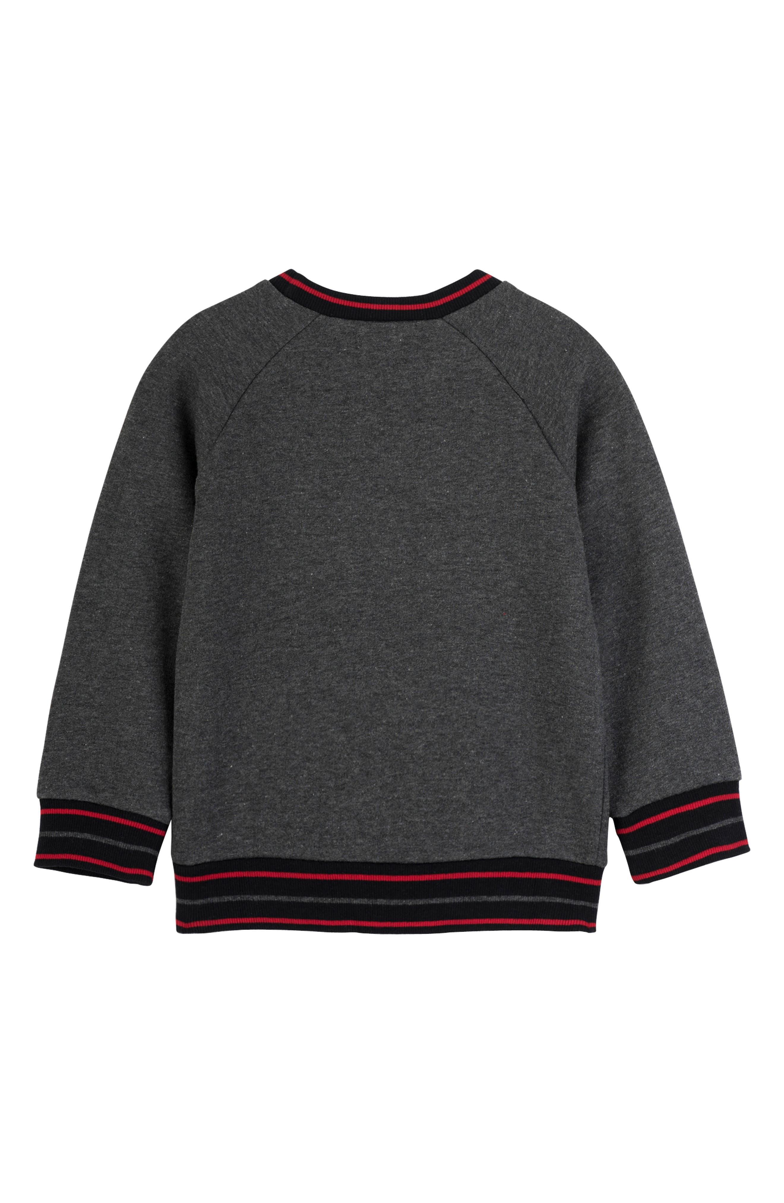 Bear Sweatshirt,                             Alternate thumbnail 2, color,                             BLACK BEAR