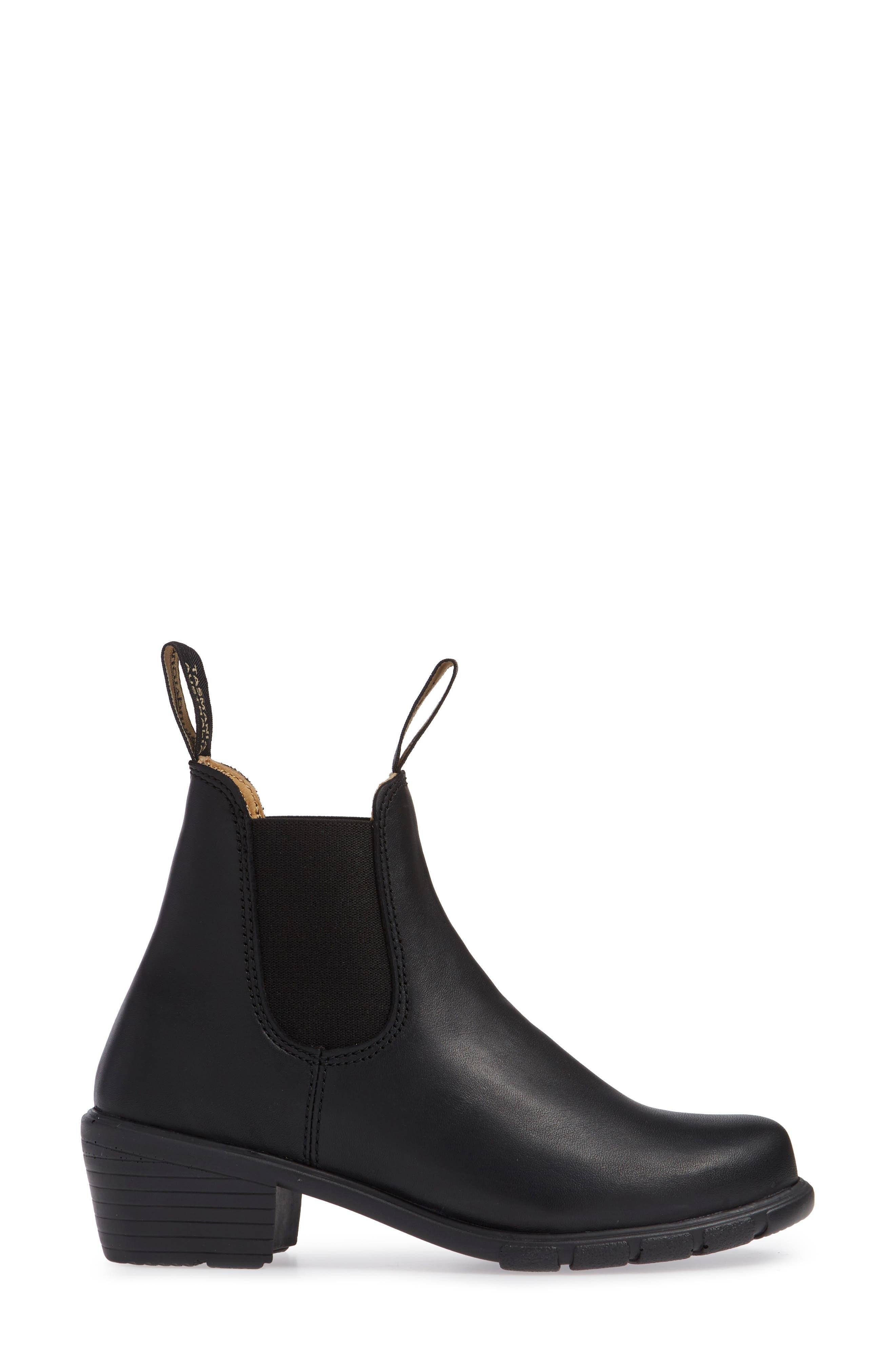 1671 Chelsea Boot,                             Alternate thumbnail 3, color,                             BLACK LEATHER