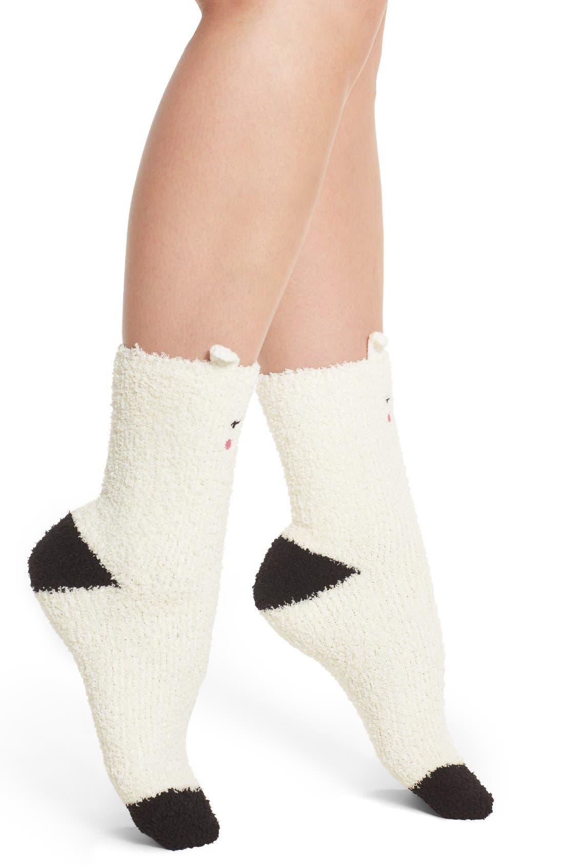 Lamb Plush Socks,                             Alternate thumbnail 3, color,                             105