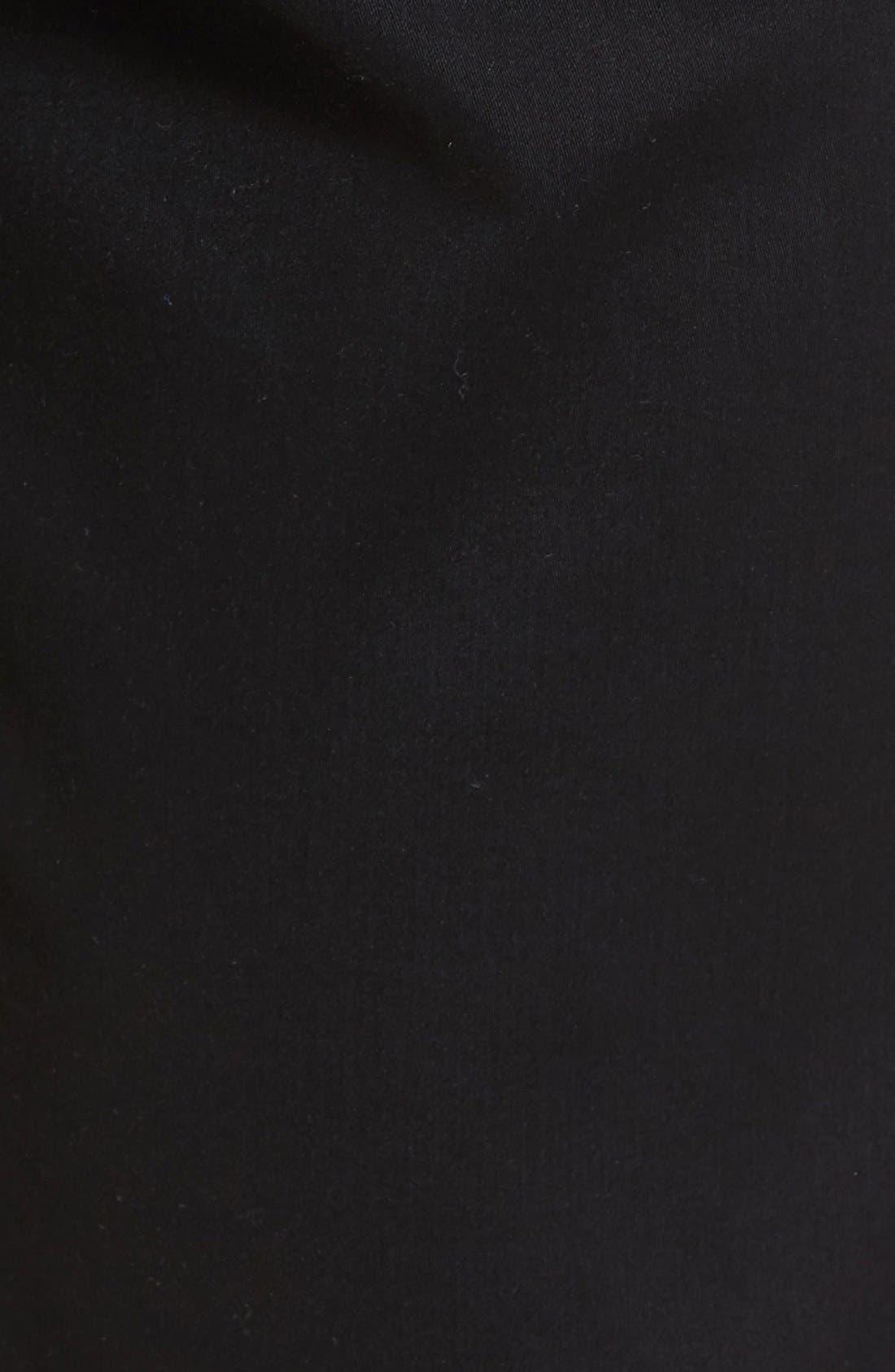Cooper Prestige Stretch Cotton Pants,                             Alternate thumbnail 7, color,                             PERMA BLACK
