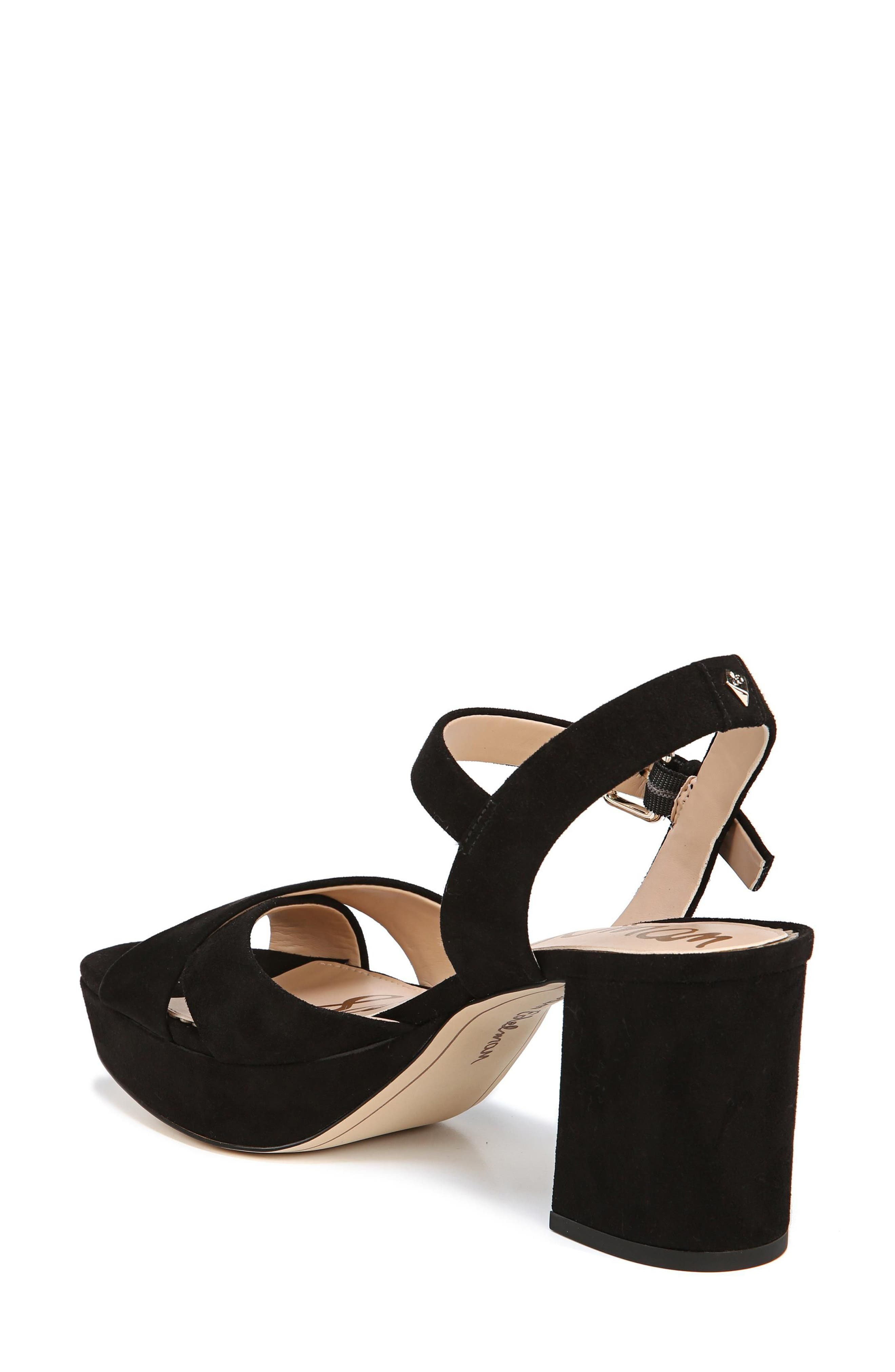 Jolene Platform Sandal,                             Alternate thumbnail 2, color,                             BLACK SUEDE