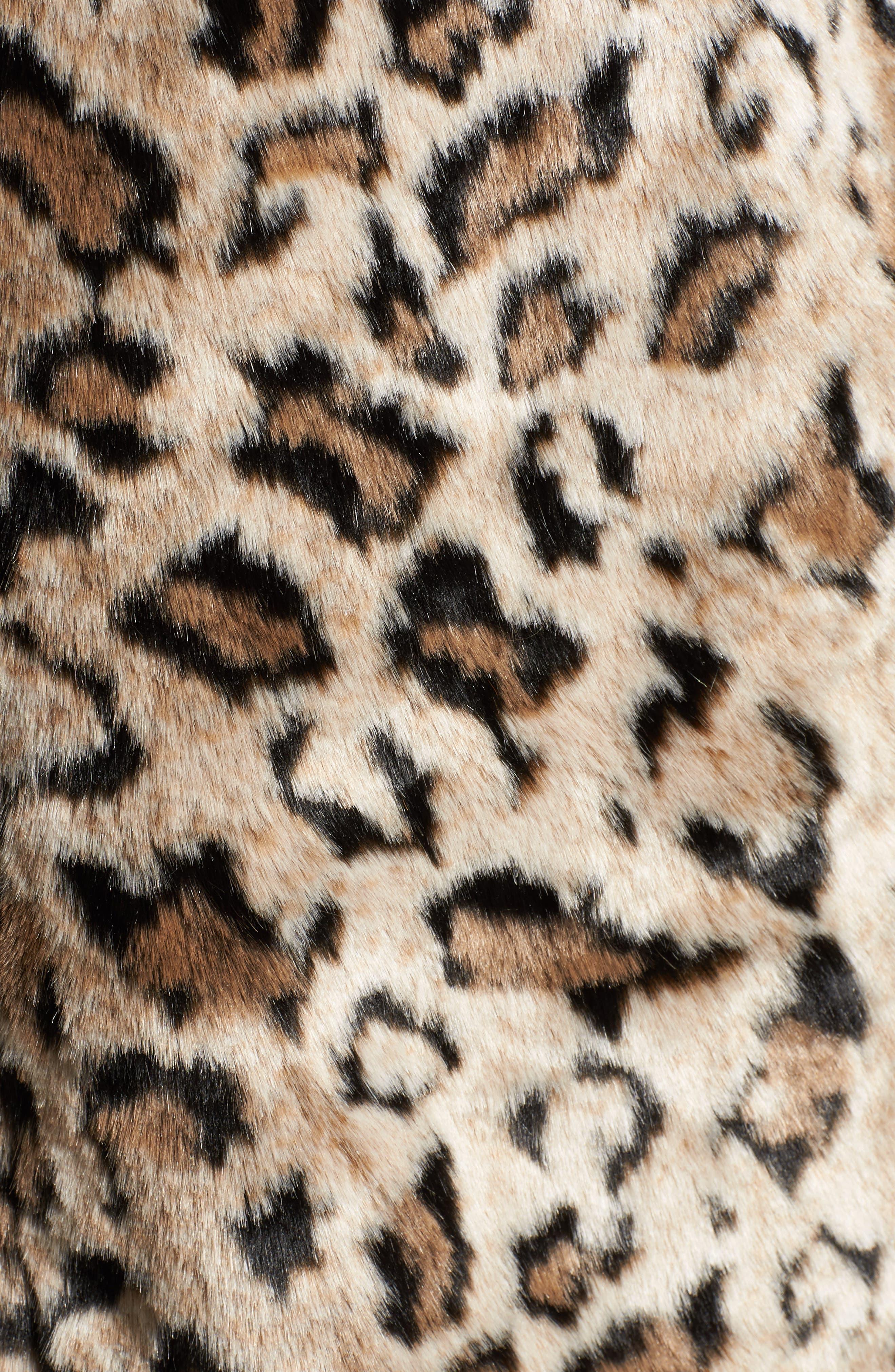 Abeni Faux Fur Coat,                             Alternate thumbnail 6, color,