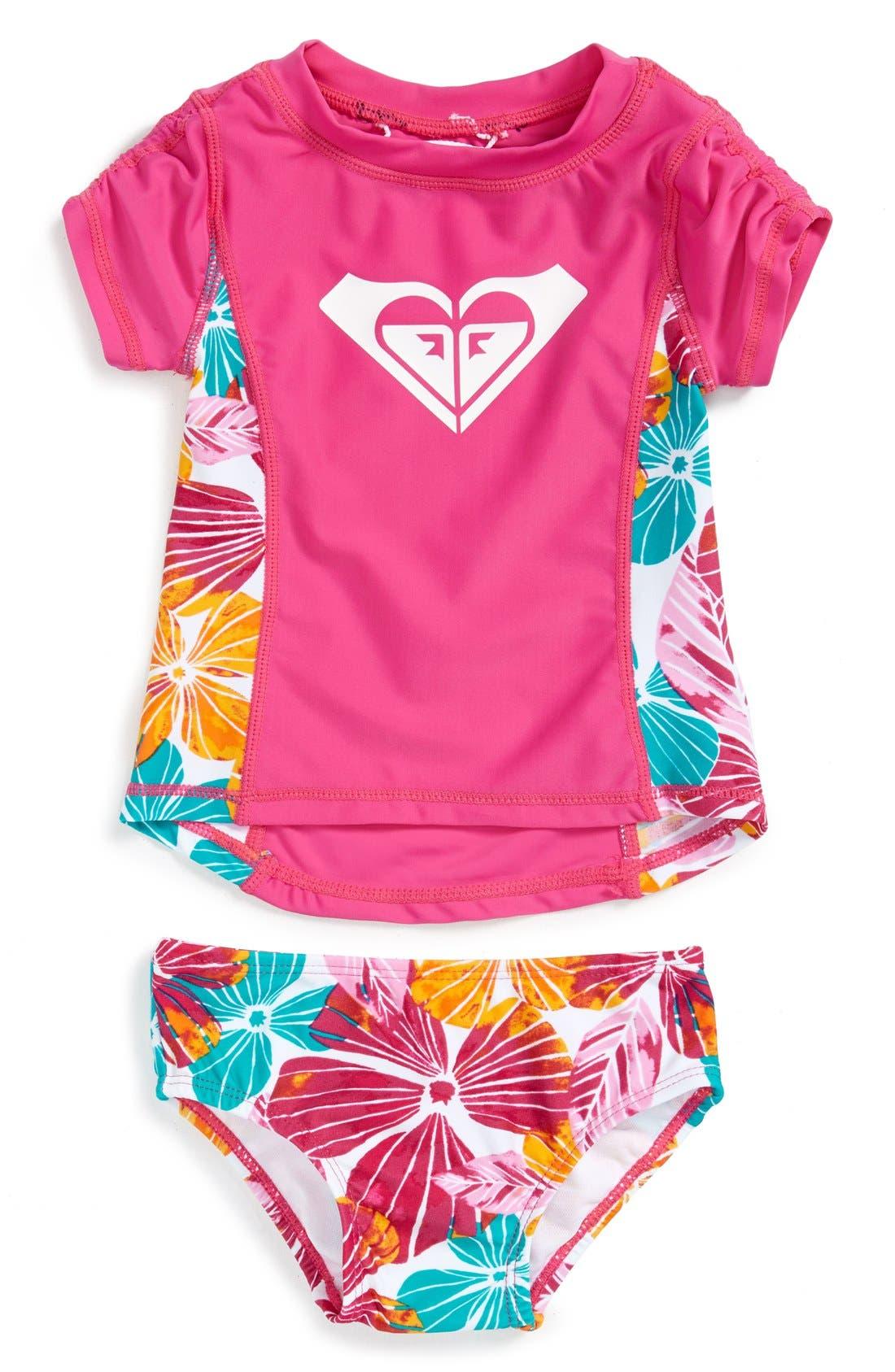 Two-Piece Rashguard Swimsuit,                             Main thumbnail 1, color,                             650