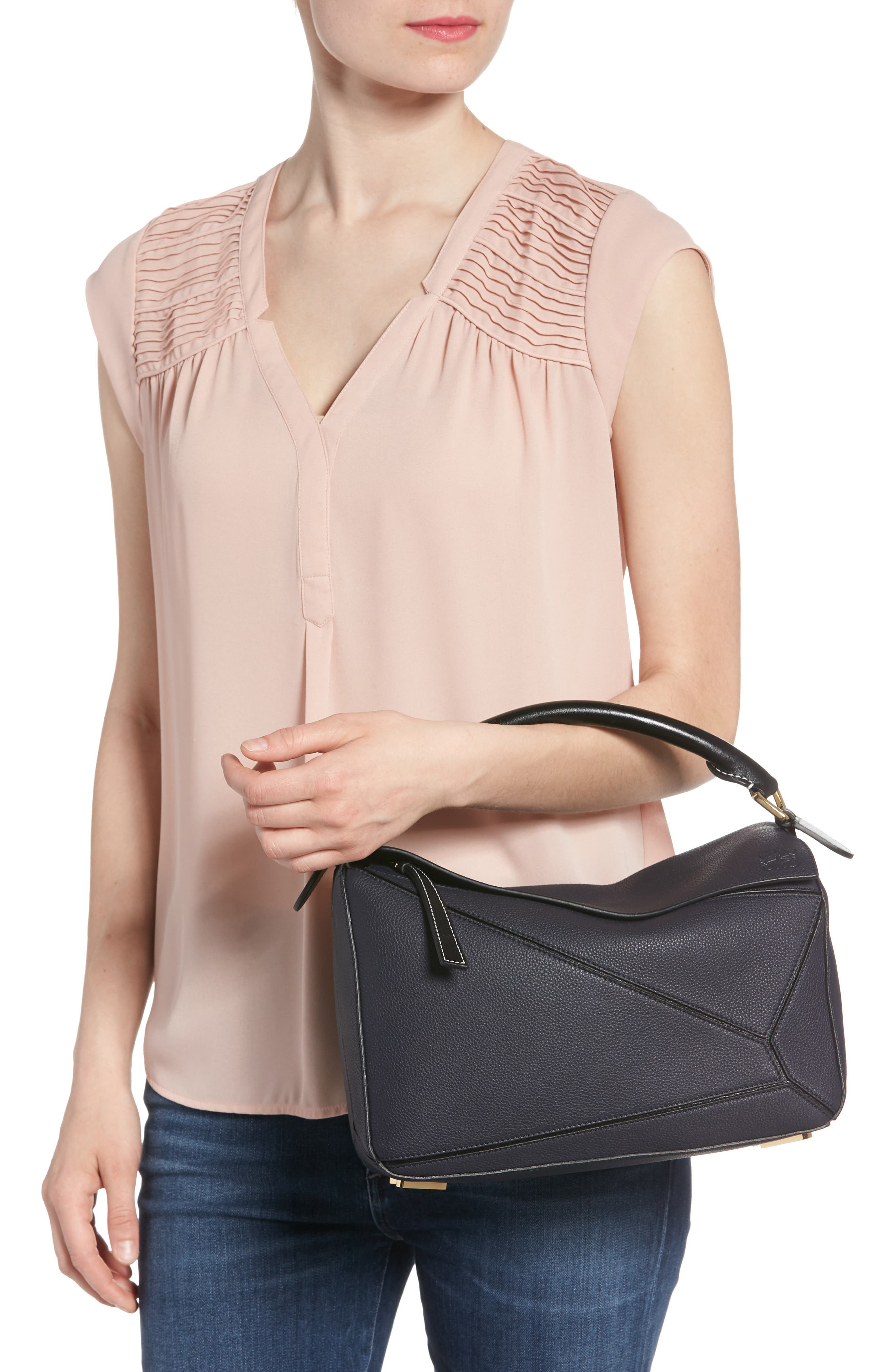 Medium Puzzle Leather Shoulder Bag,                             Alternate thumbnail 2, color,                             405