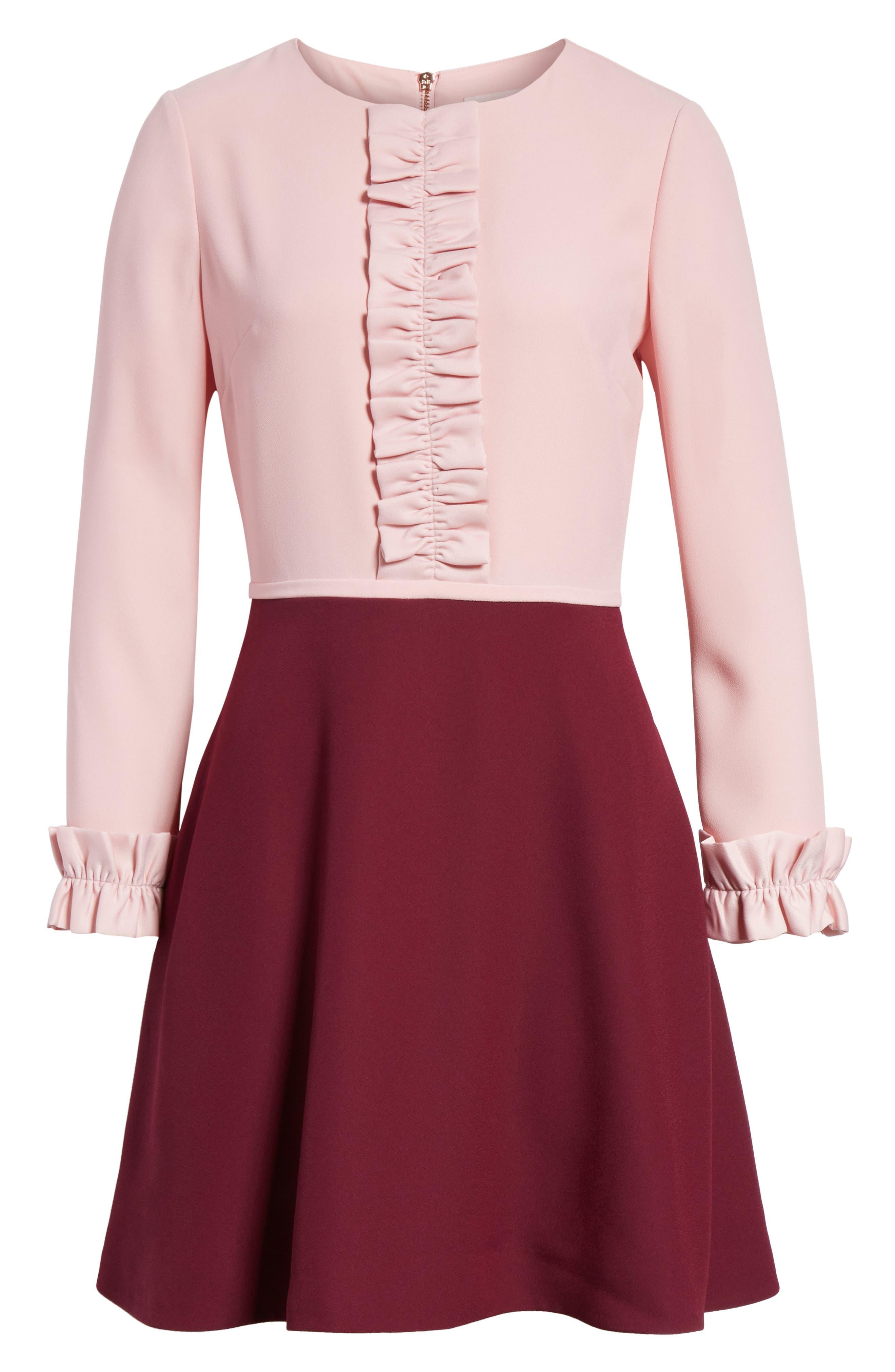 Steyla Ruffle Dress,                             Alternate thumbnail 6, color,                             652