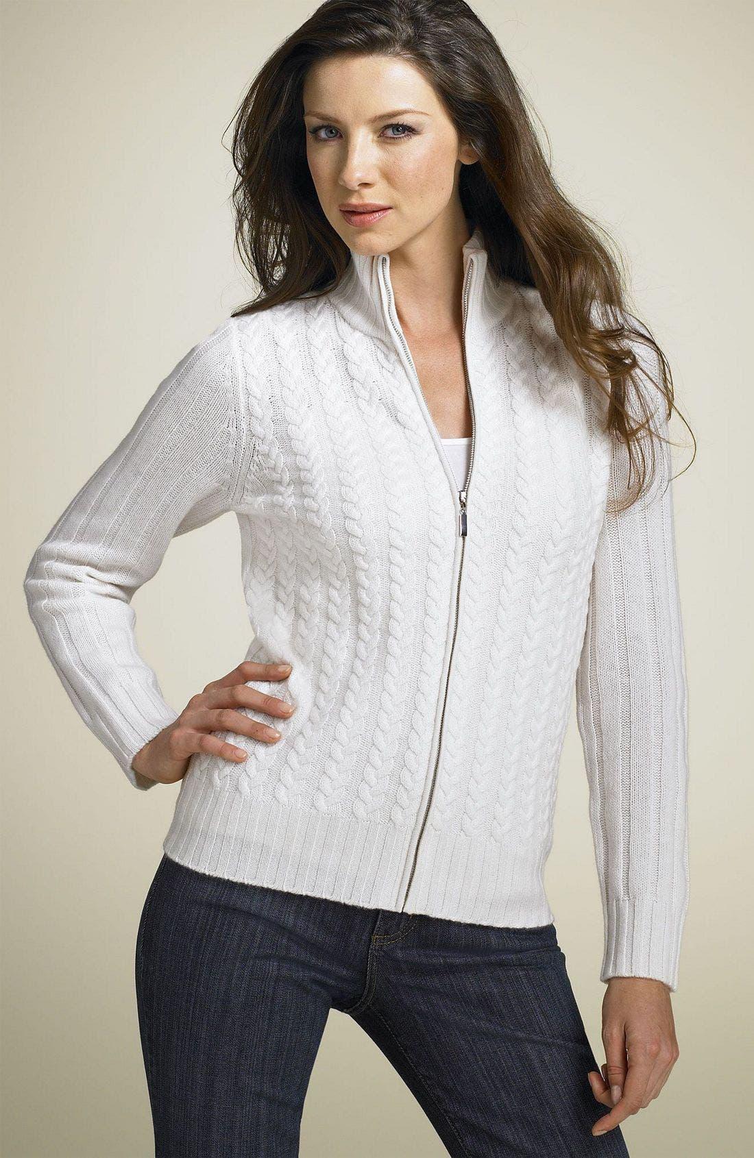 Philosophy Dane Lewis Zip Cashmere Sweater, Main, color, 136