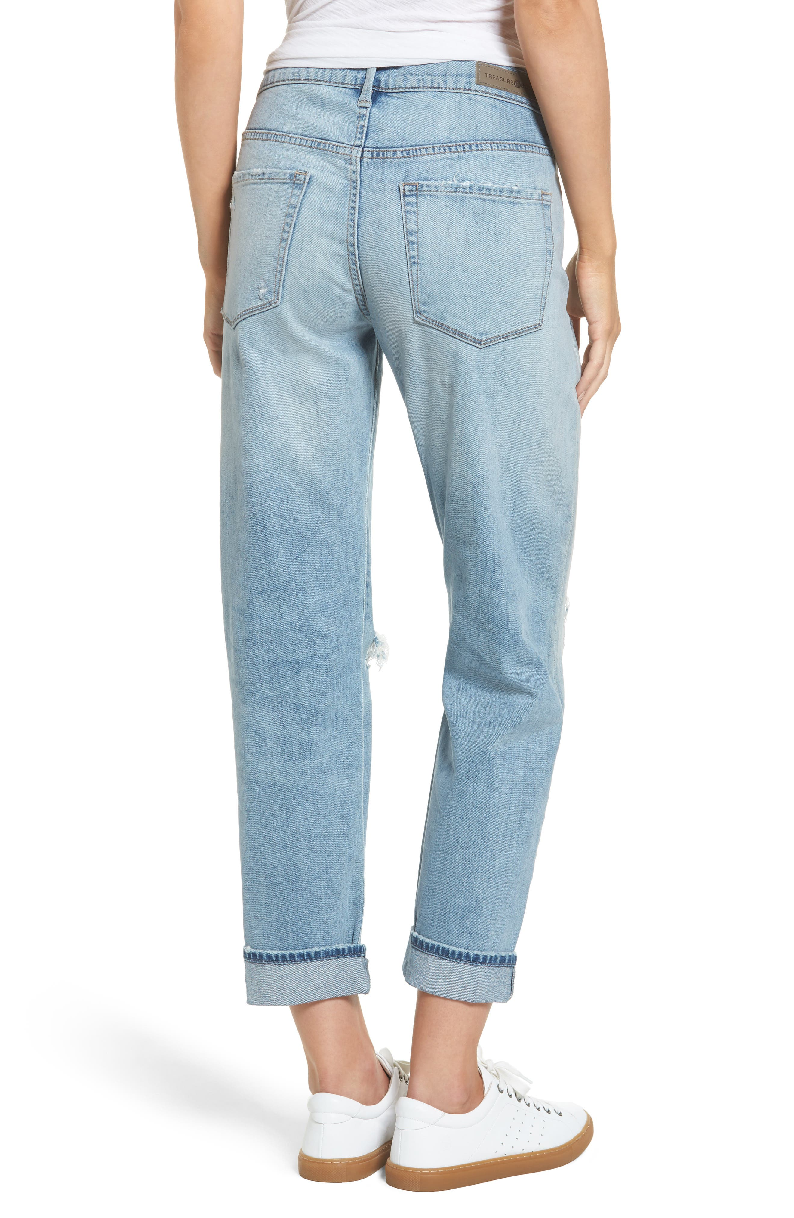 Ripped Relaxed Fit Jeans,                             Alternate thumbnail 2, color,                             400