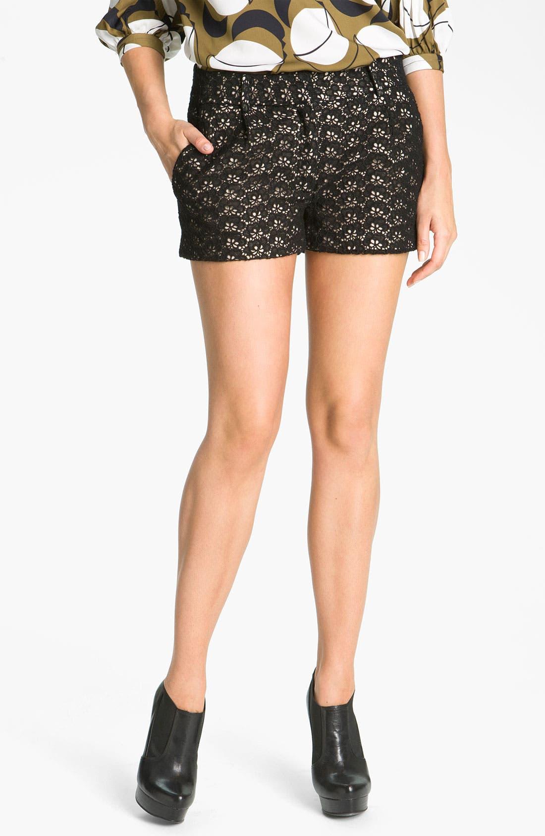'Naples' Lace Shorts,                         Main,                         color, 001