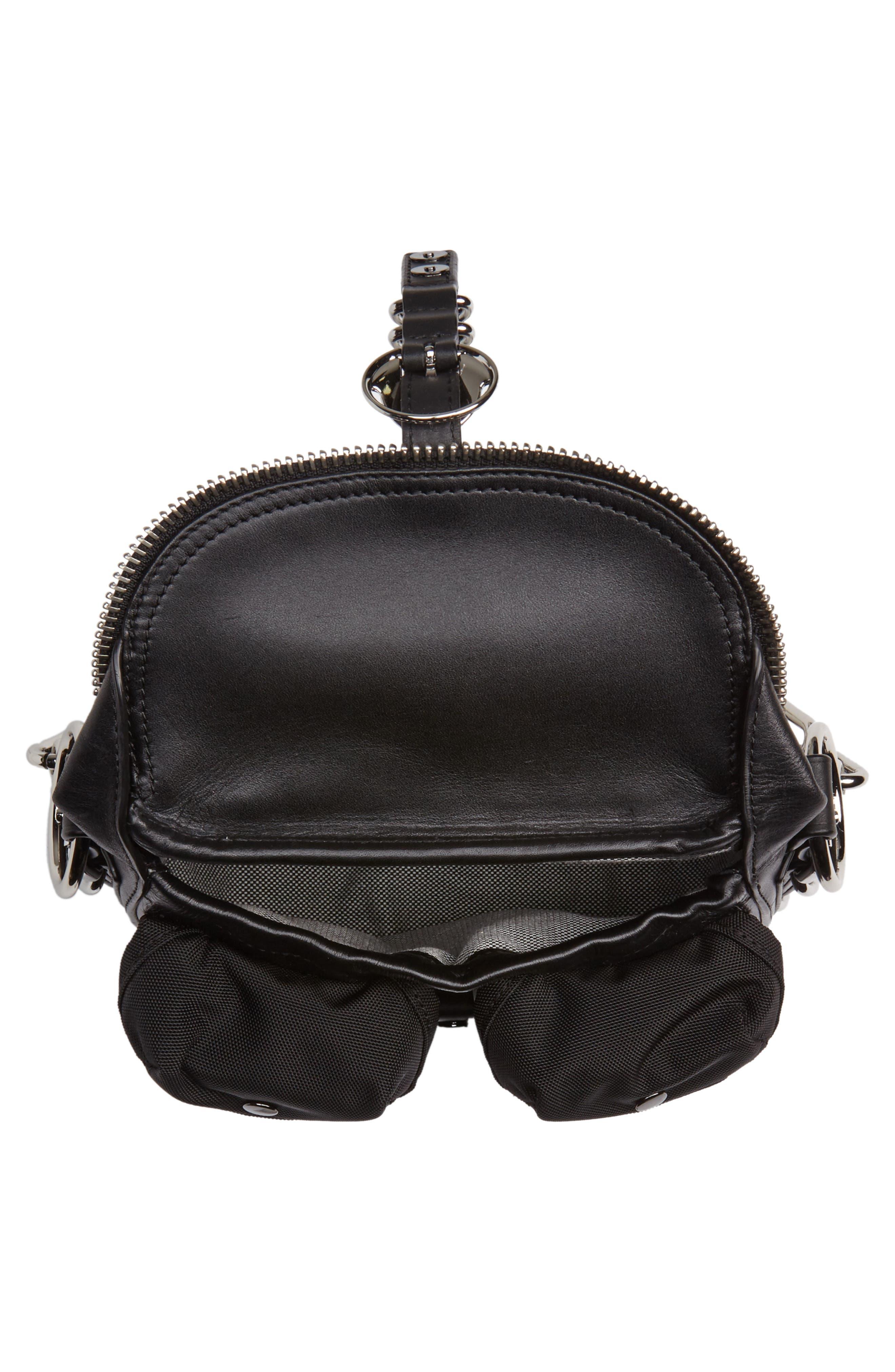 Rove Mixed Media Crossbody Bag,                             Alternate thumbnail 4, color,                             BLACK