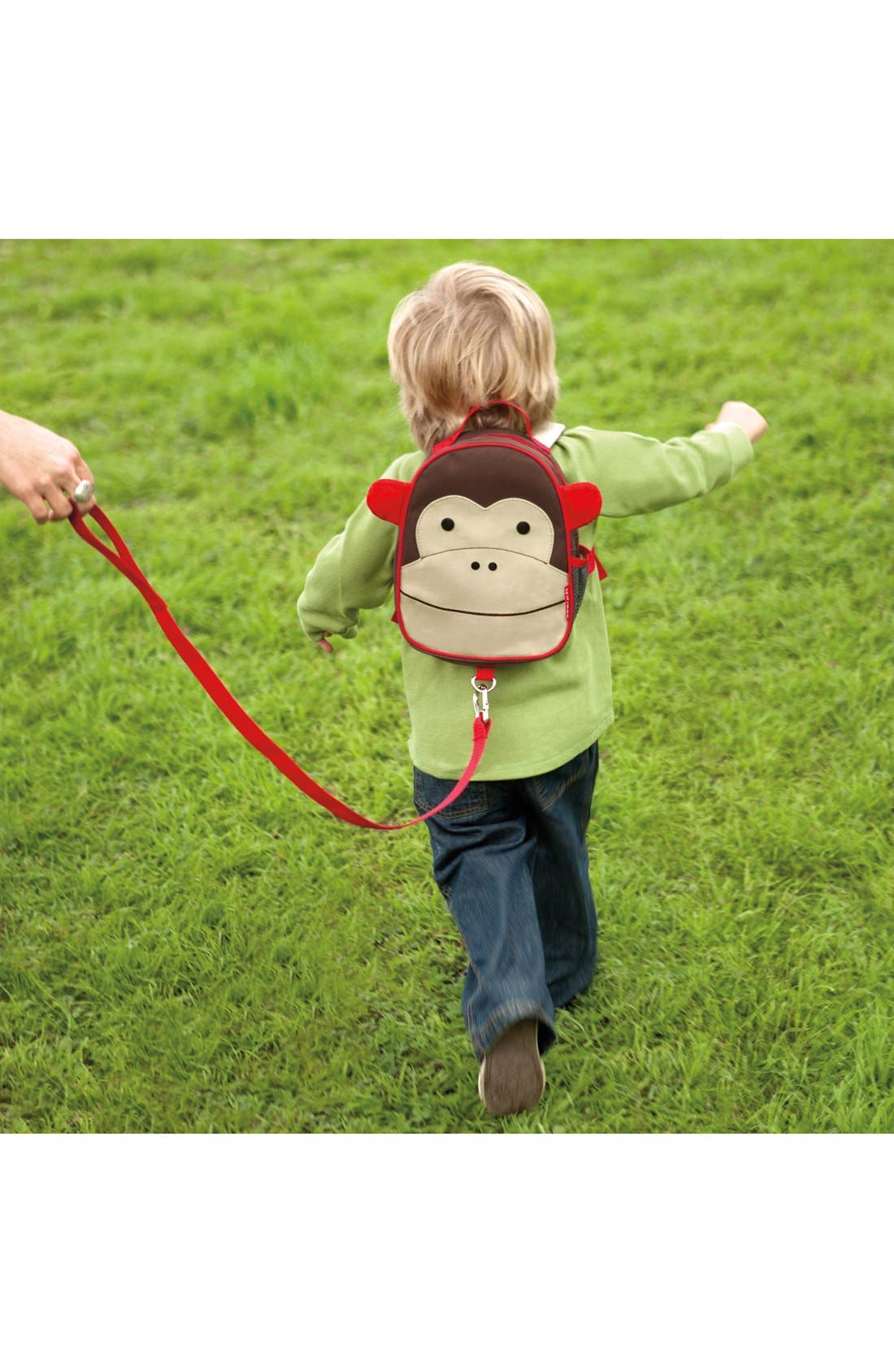 'Zoo' Safety Harness Backpack,                             Alternate thumbnail 4, color,                             MONKEY