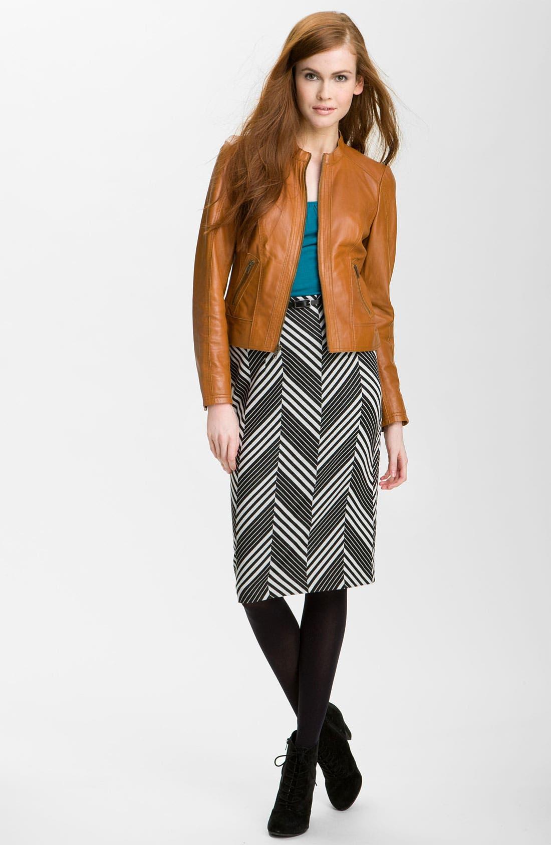Belted Ponte Skirt,                             Alternate thumbnail 14, color,