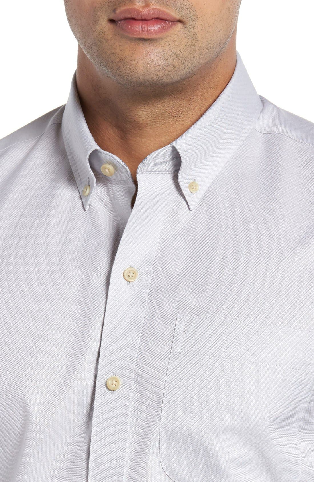 San Juan Classic Fit Wrinkle Free Solid Sport Shirt,                             Alternate thumbnail 4, color,                             054