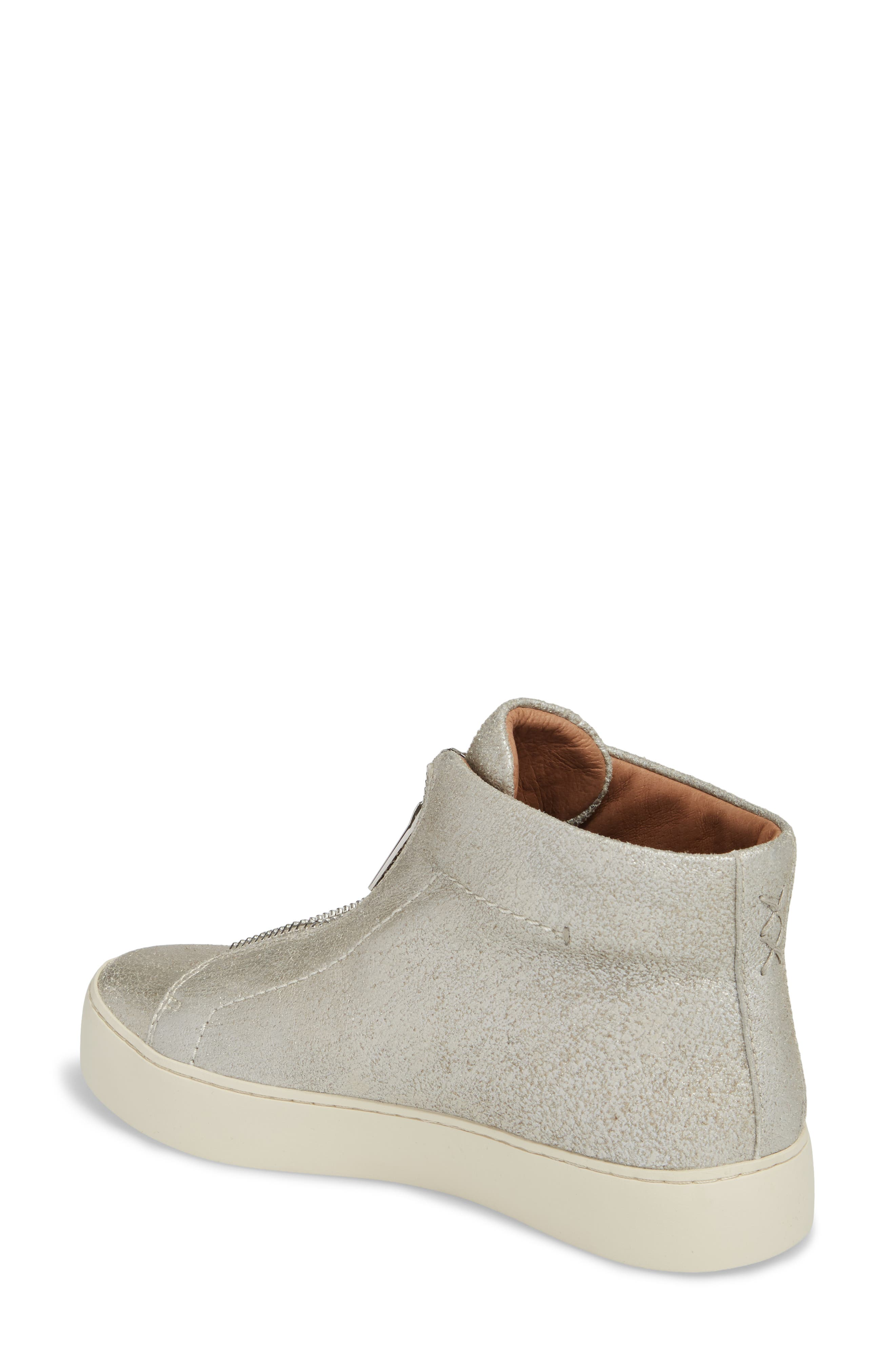 Lena Zip High Top Sneaker,                             Alternate thumbnail 2, color,