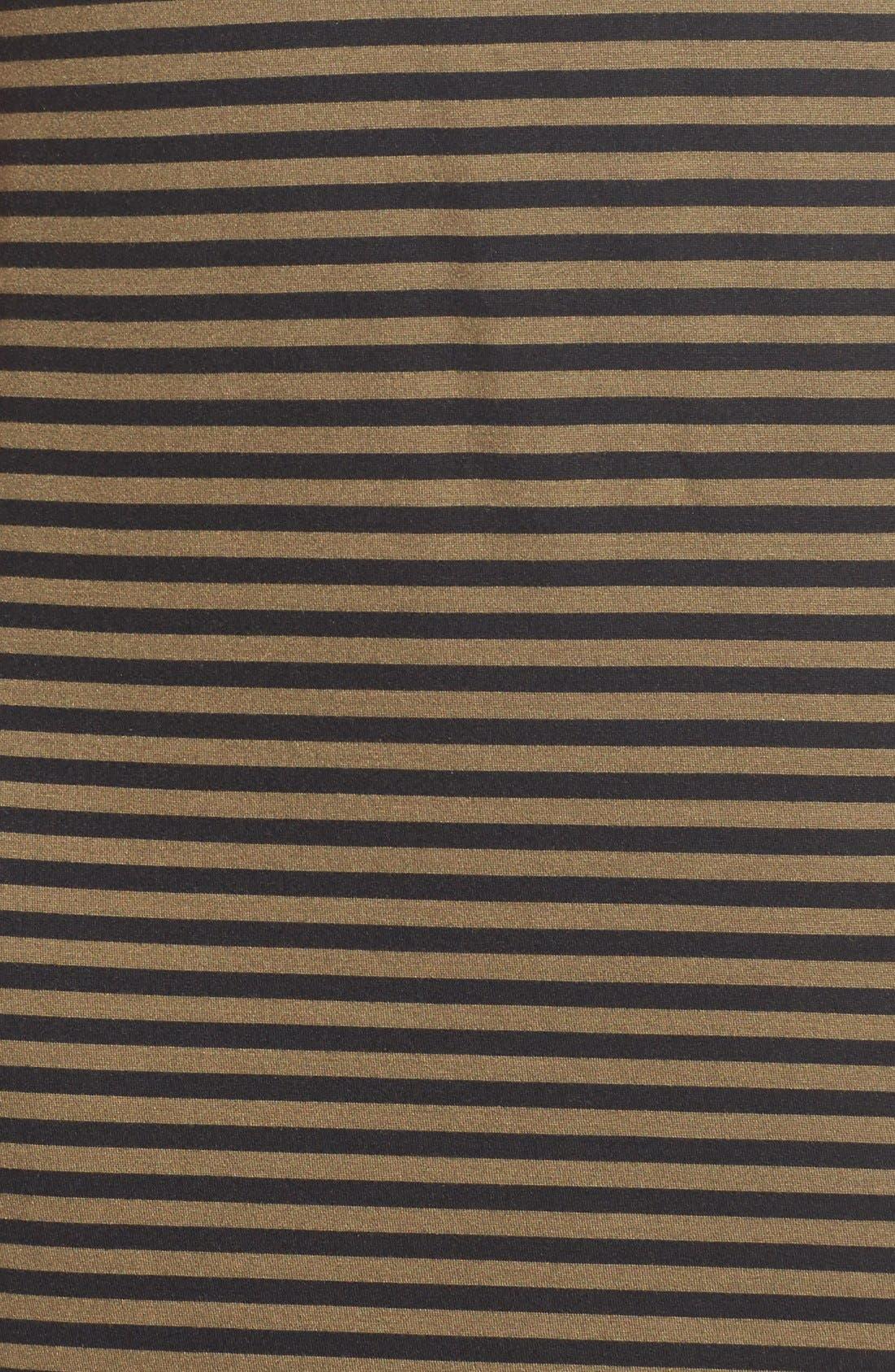 STEM,                             Stripe Scoop Back Midi Dress,                             Alternate thumbnail 3, color,                             300