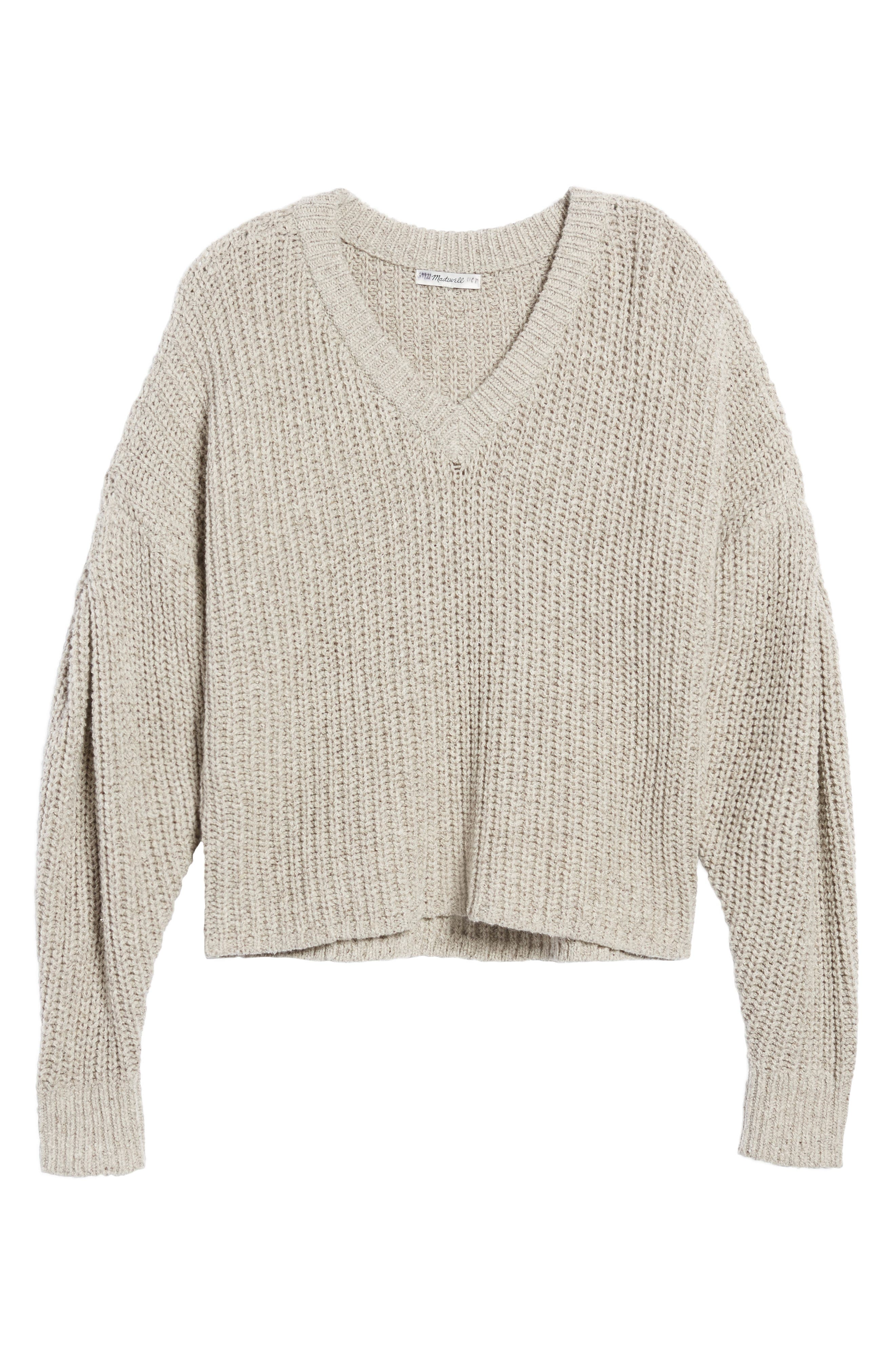Pleat Sleeve Pullover Sweater,                             Alternate thumbnail 9, color,