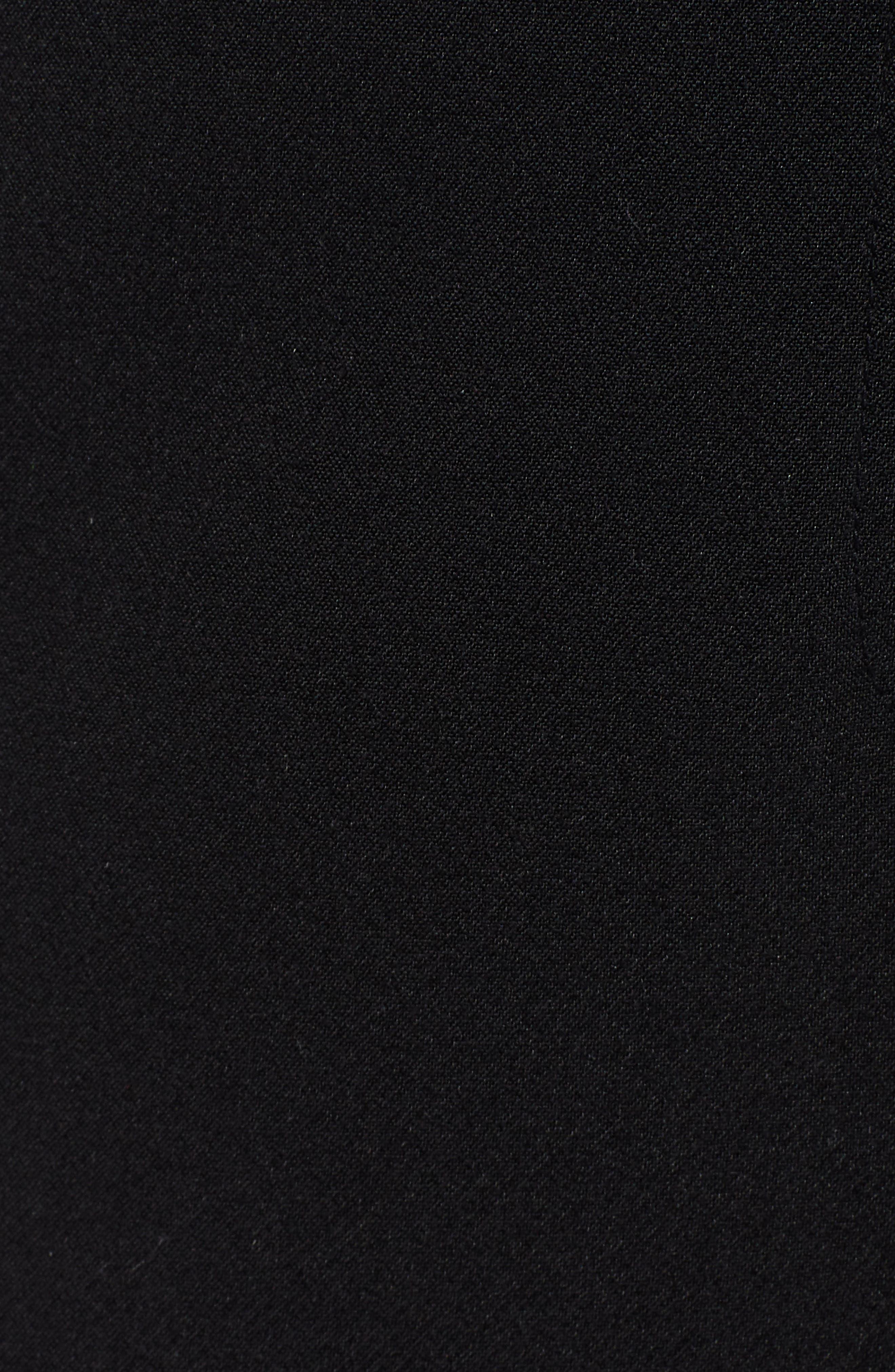 Flat Front Trousers,                             Alternate thumbnail 6, color,                             BLACK