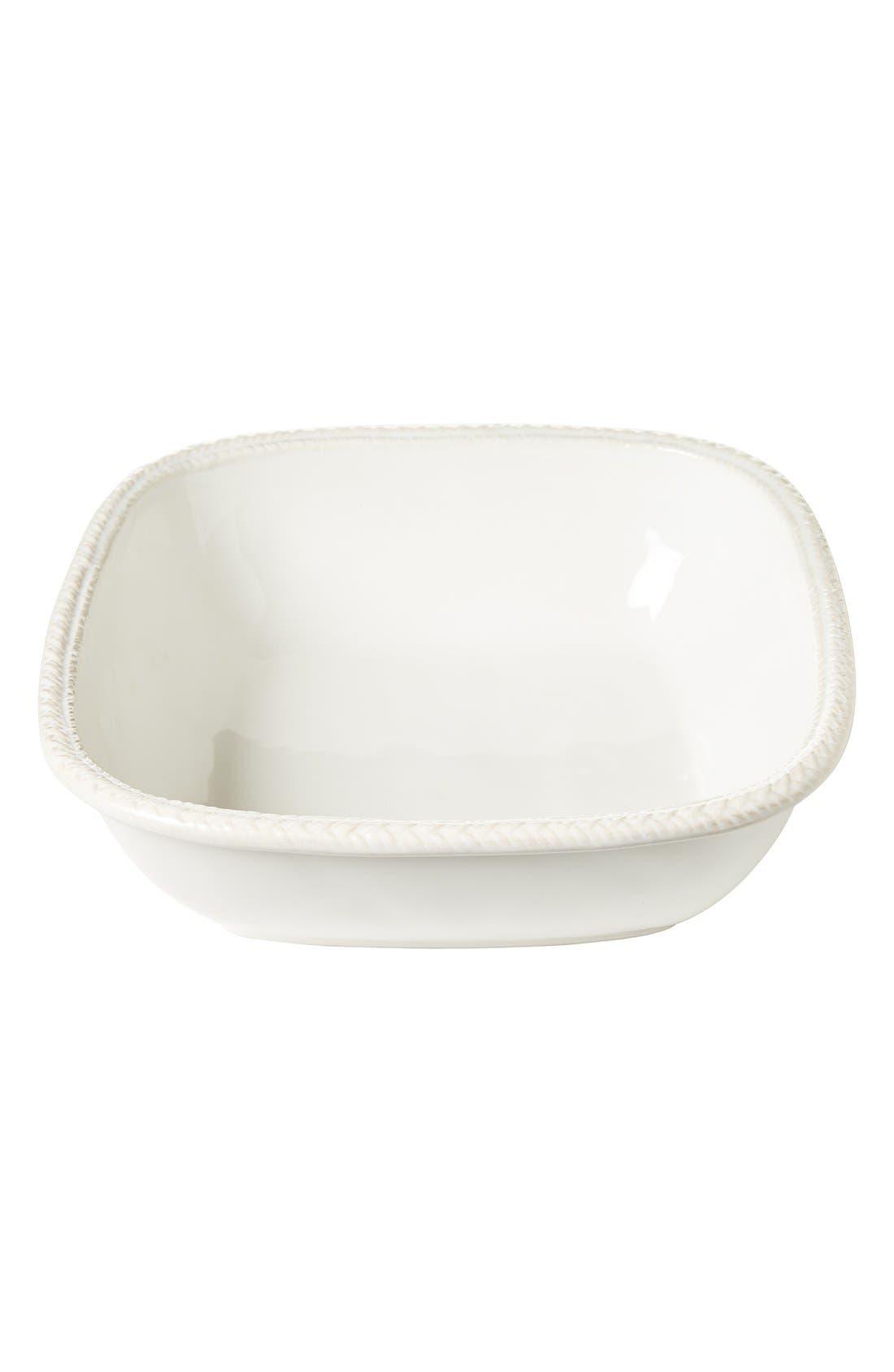 JULISKA,                             Le Panier Medium Ceramic Serving Bowl,                             Main thumbnail 1, color,                             WHITE