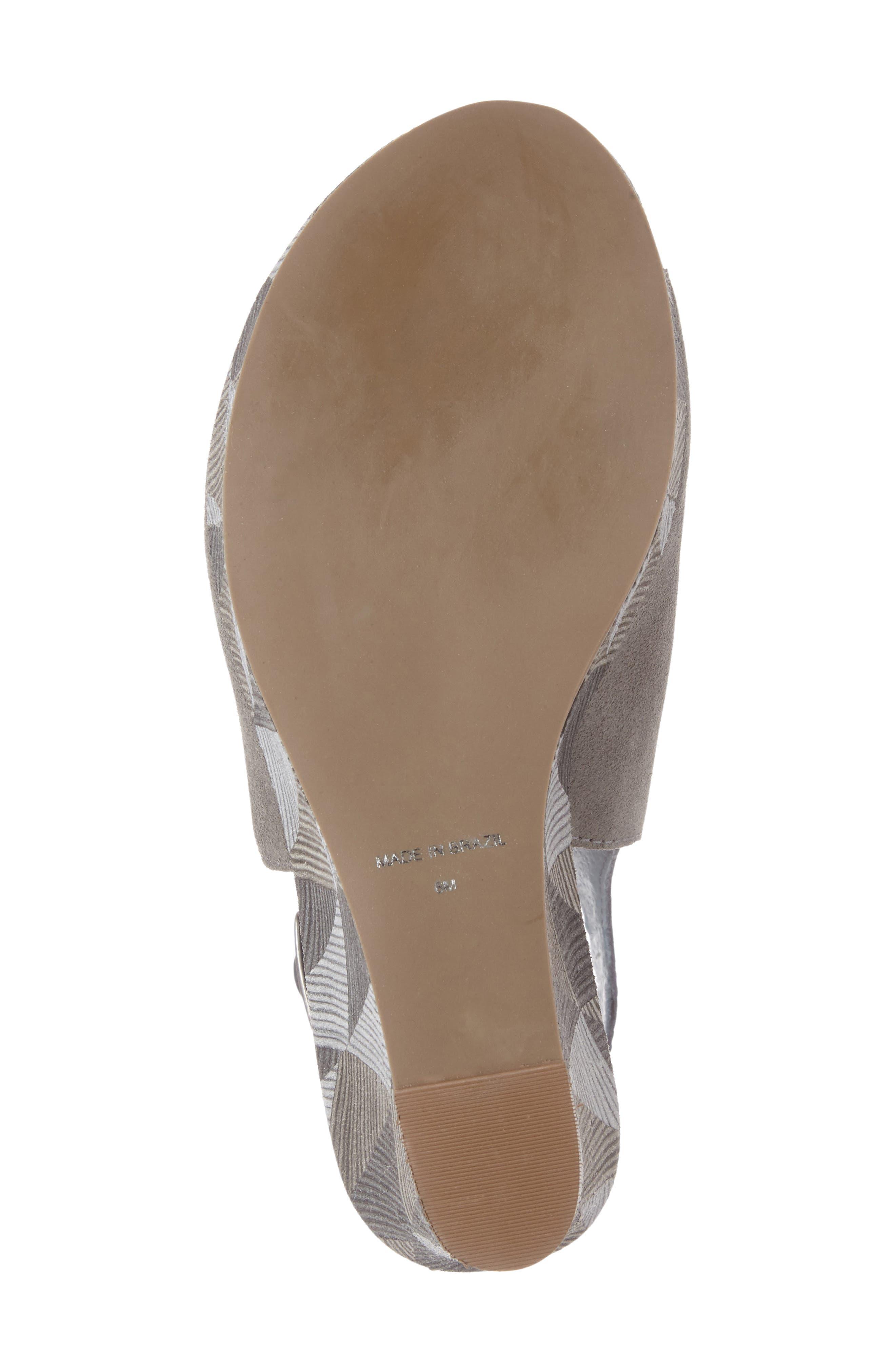 Harlequin Wedge Sandal,                             Alternate thumbnail 6, color,                             029