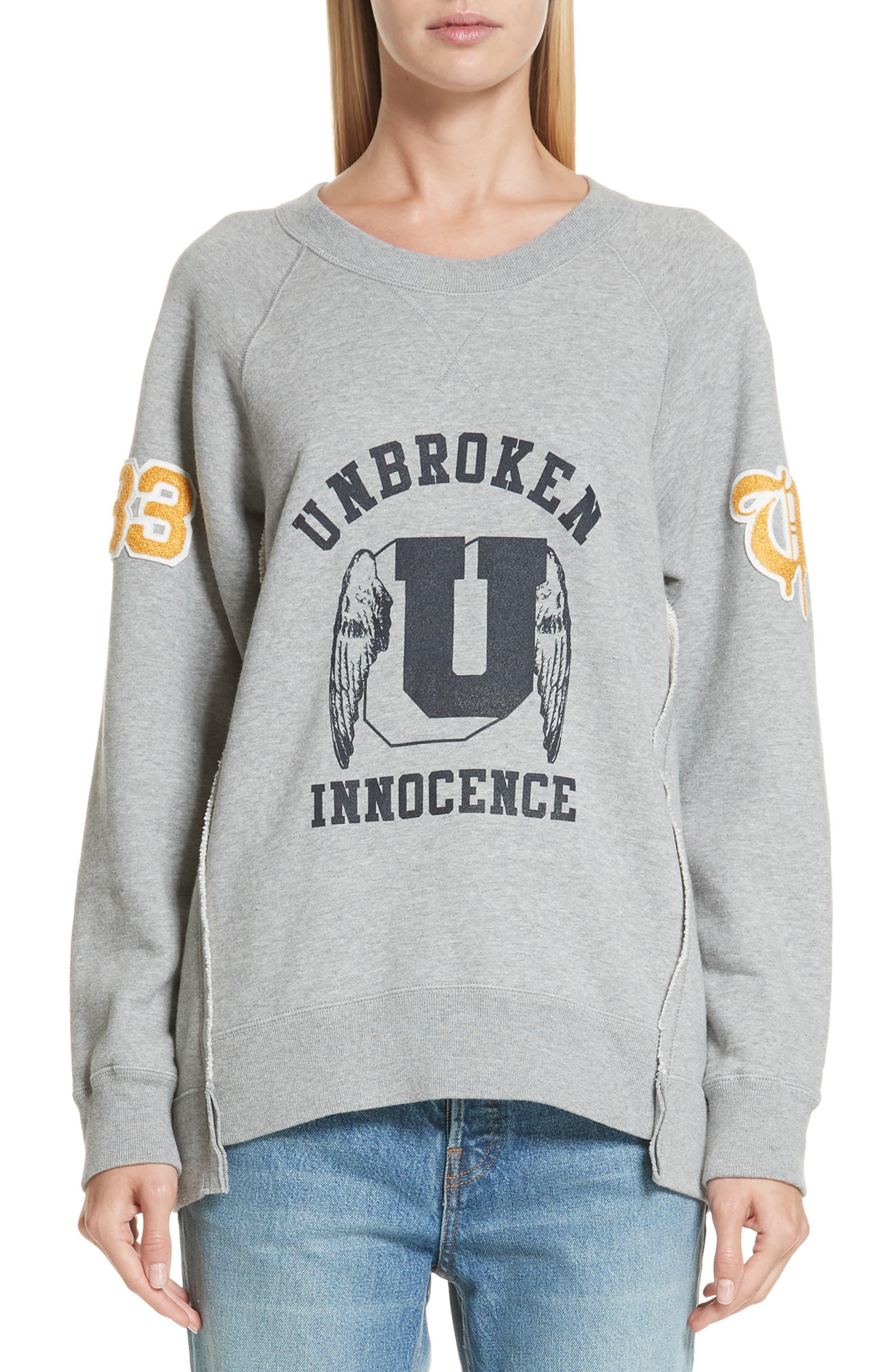 Unbroken Innocence Sweatshirt,                         Main,                         color, B TOP GRAY